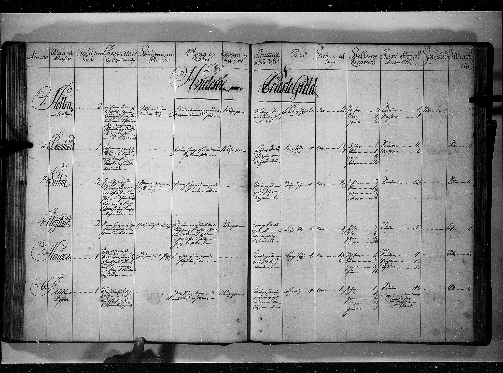 RA, Rentekammeret inntil 1814, Realistisk ordnet avdeling, N/Nb/Nbf/L0121: Øvre og Nedre Telemark eksaminasjonsprotokoll, 1723, s. 115b-116a