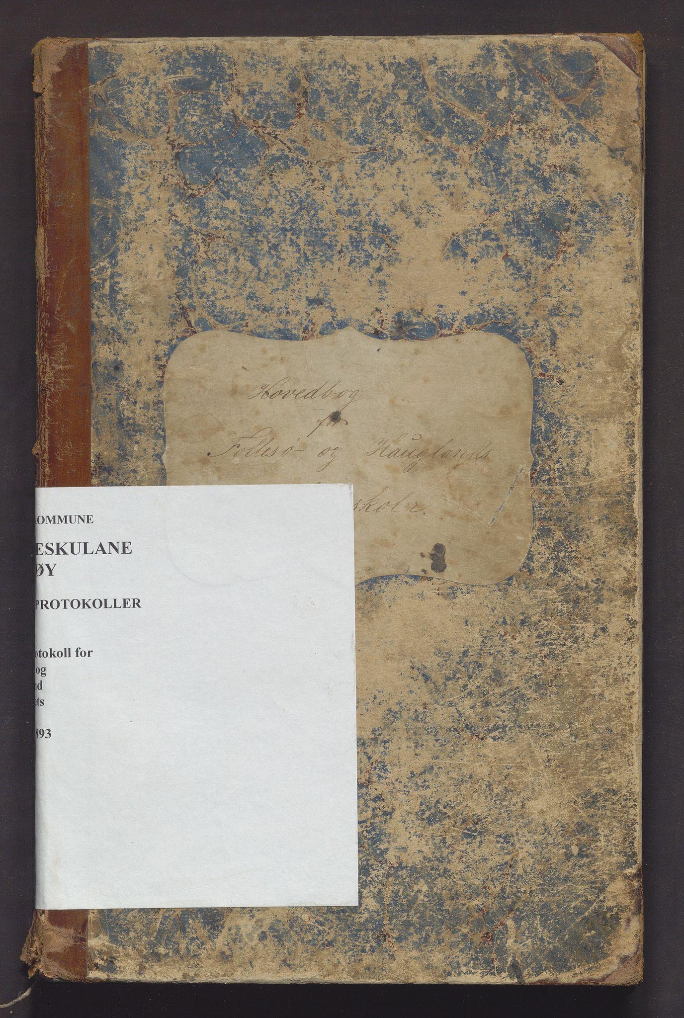 IKAH, Askøy kommune. Barneskulane, F/Fd/L0002: Skuleprotokoll for Follese og Haugland krinsar, 1882-1893