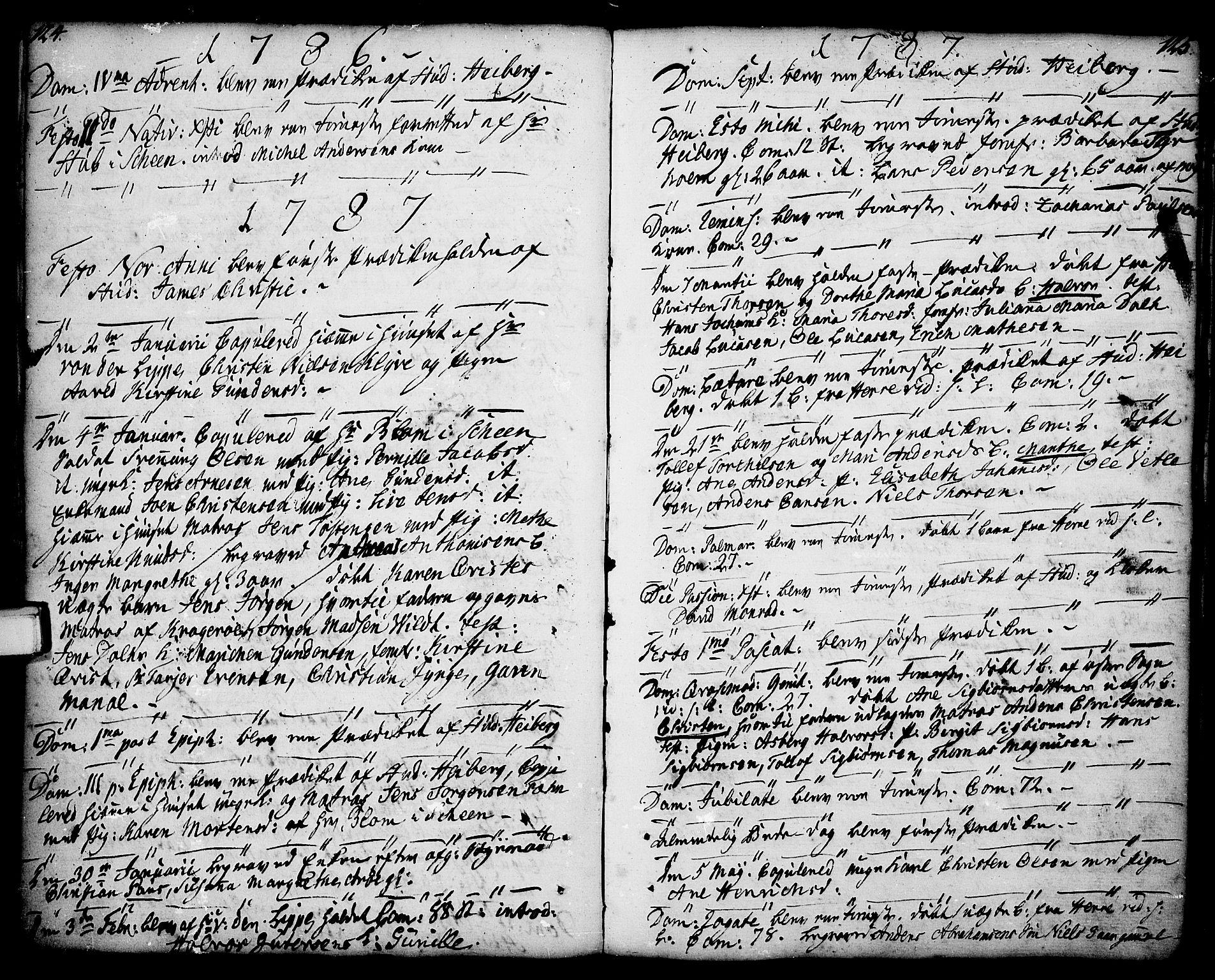 SAKO, Porsgrunn kirkebøker , F/Fa/L0001: Ministerialbok nr. 1, 1764-1814, s. 124-125