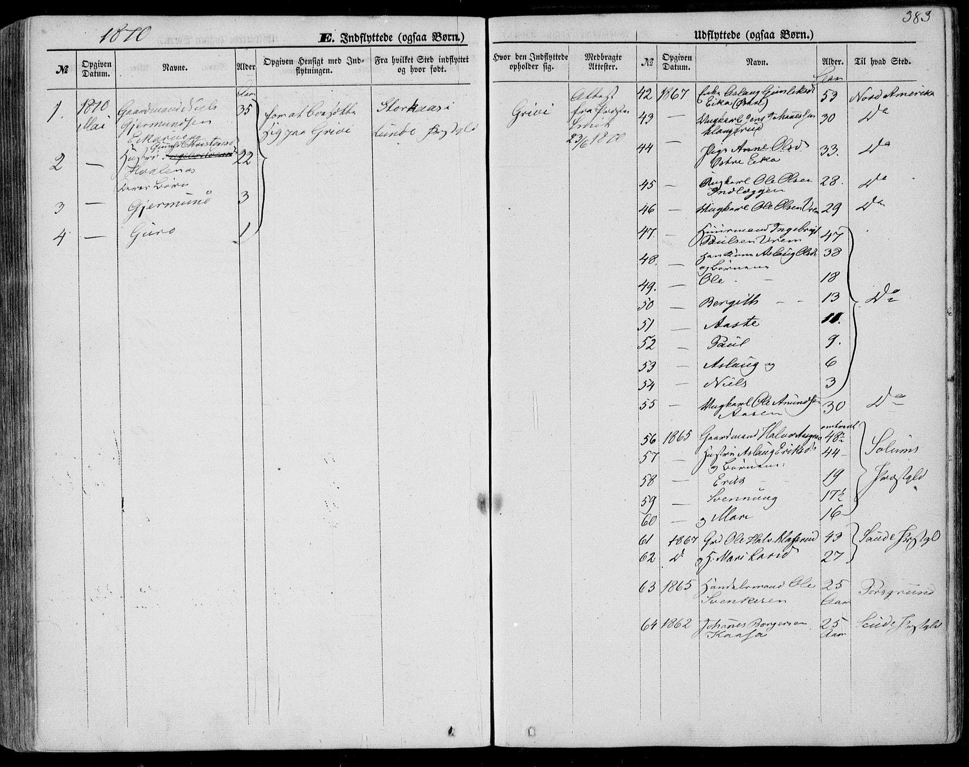 SAKO, Bø kirkebøker, F/Fa/L0009: Ministerialbok nr. 9, 1862-1879, s. 383