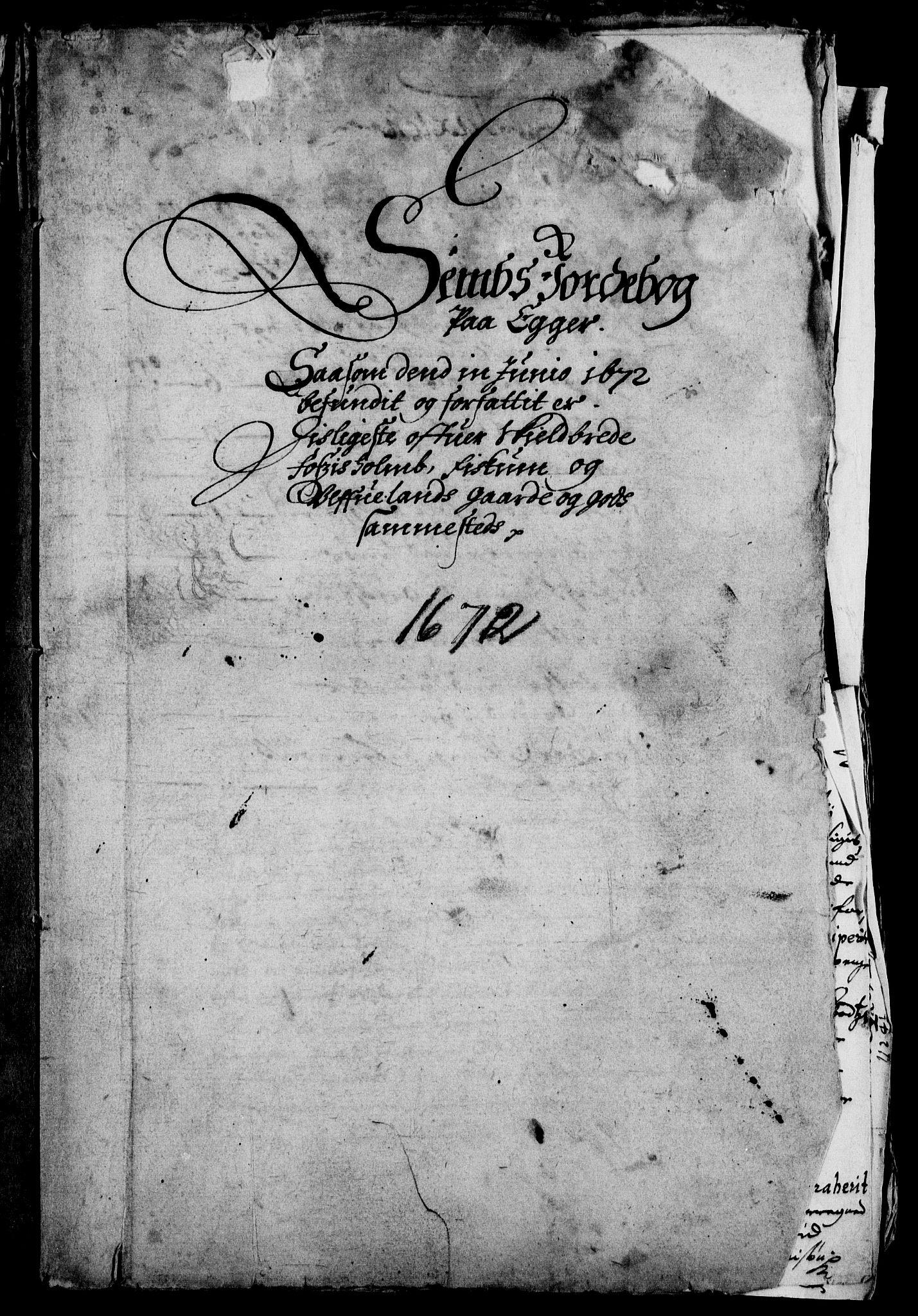 RA, Rentekammeret inntil 1814, Realistisk ordnet avdeling, On/L0008: [Jj 9]: Jordebøker innlevert til kongelig kommisjon 1672: Hammar, Osgård, Sem med Skjelbred, Fossesholm, Fiskum og Ulland (1669-1672), Strøm (1658-u.d. og 1672-73) samt Svanøy gods i Sunnfjord (1657)., 1672, s. 92