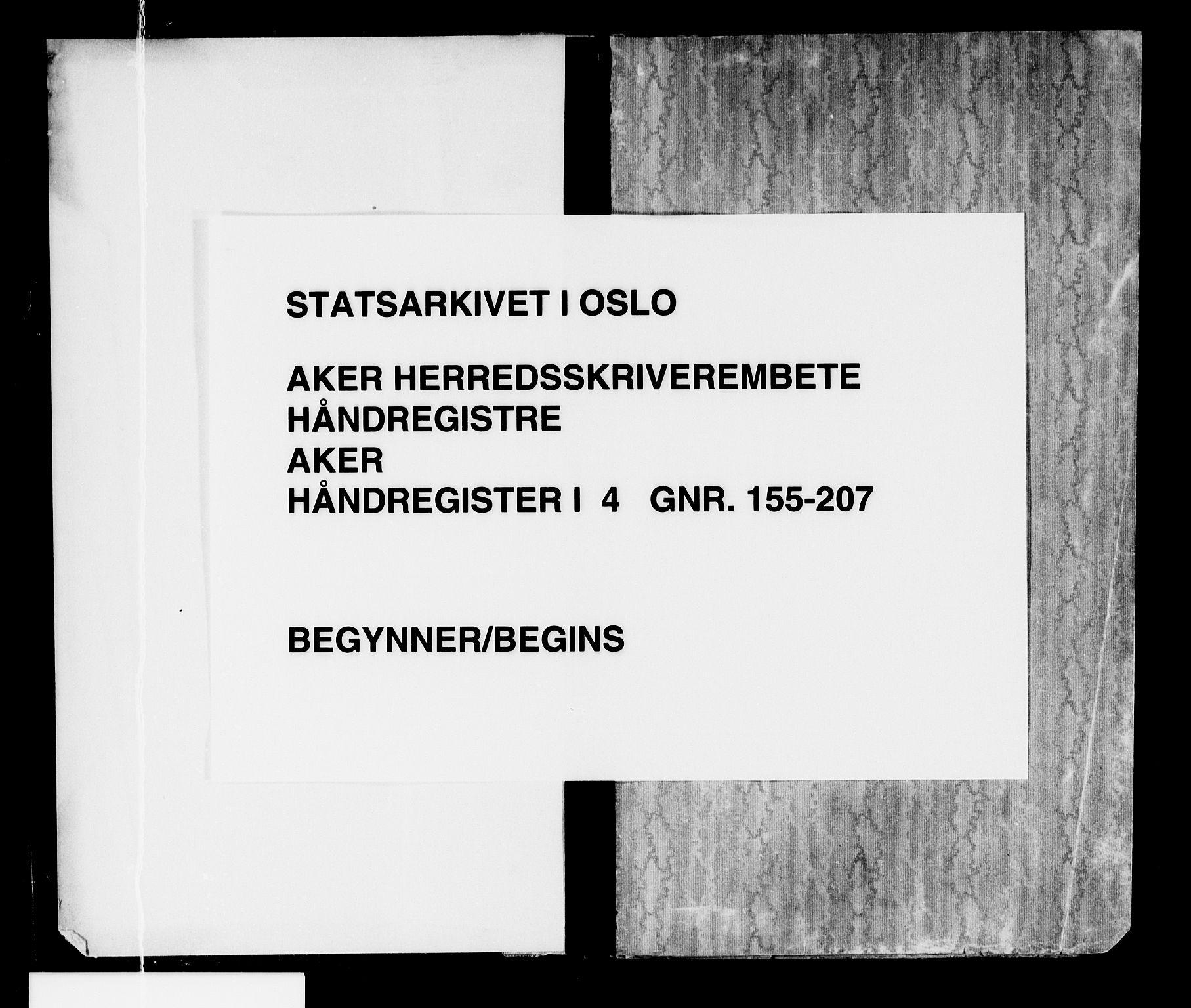 SAO, Aker herredsskriveri, G/Ga/Gaa/Gaaa/L0004: Panteregister nr. I 4, 1892-1950