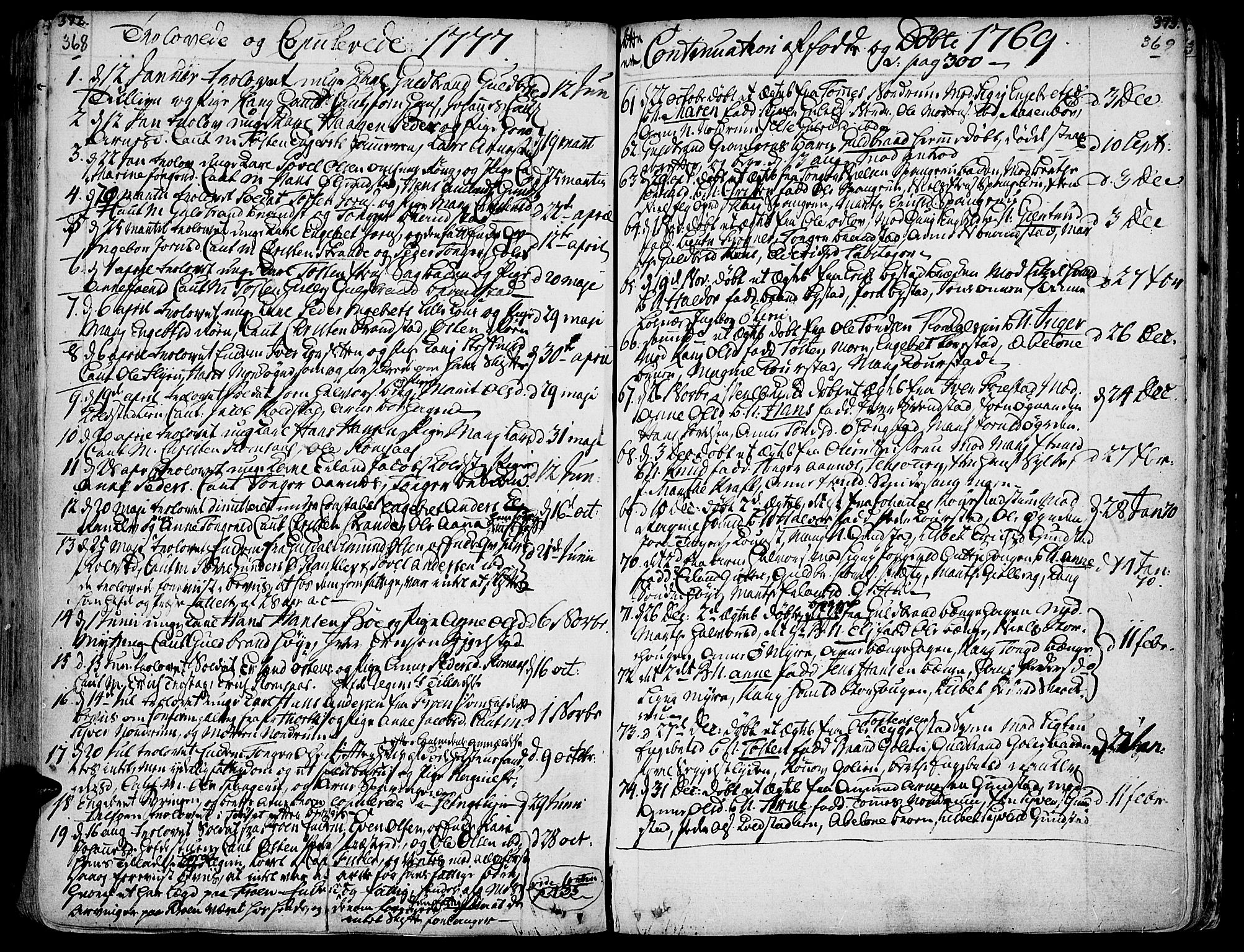 SAH, Ringebu prestekontor, Ministerialbok nr. 2, 1734-1780, s. 368-369