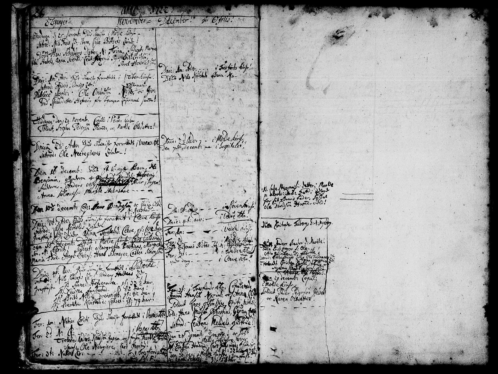 SAT, Ministerialprotokoller, klokkerbøker og fødselsregistre - Møre og Romsdal, 547/L0599: Ministerialbok nr. 547A01, 1721-1764, s. 26-27