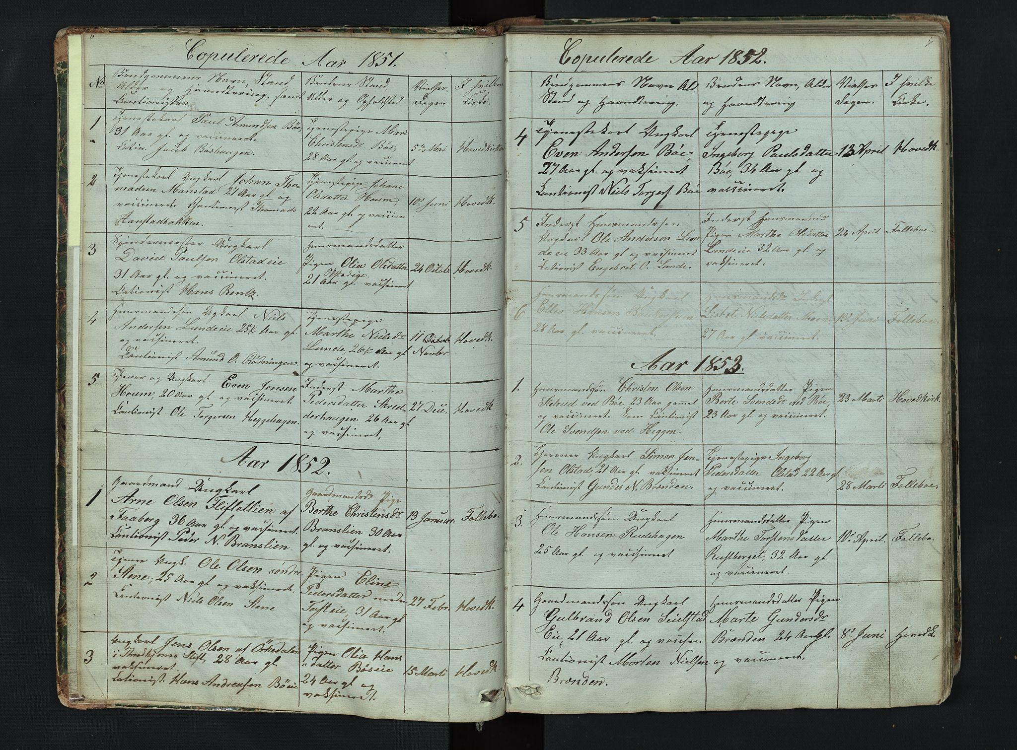 SAH, Gausdal prestekontor, Klokkerbok nr. 6, 1846-1893, s. 6-7