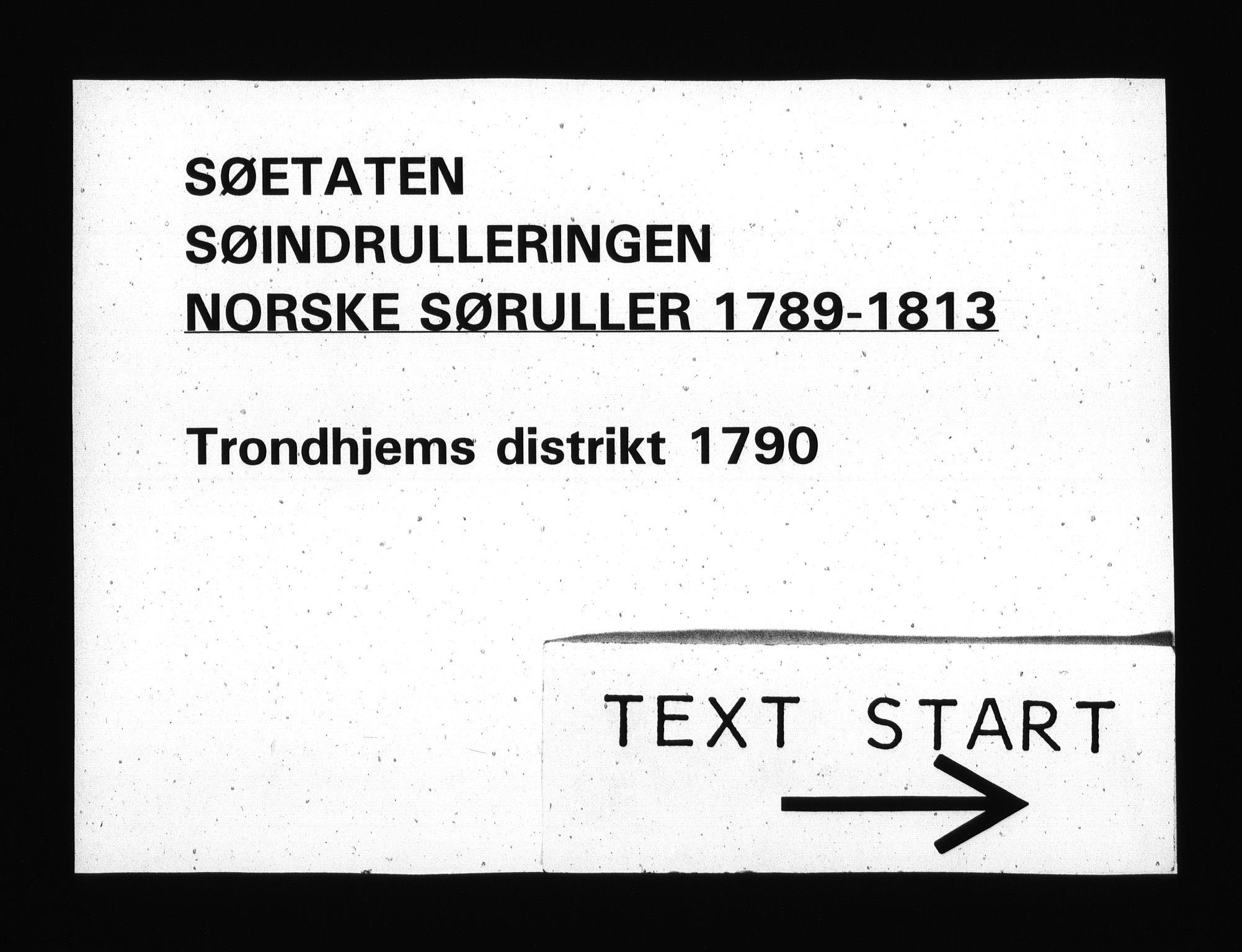 RA, Sjøetaten, F/L0308: Trondheim distrikt, bind 1, 1790