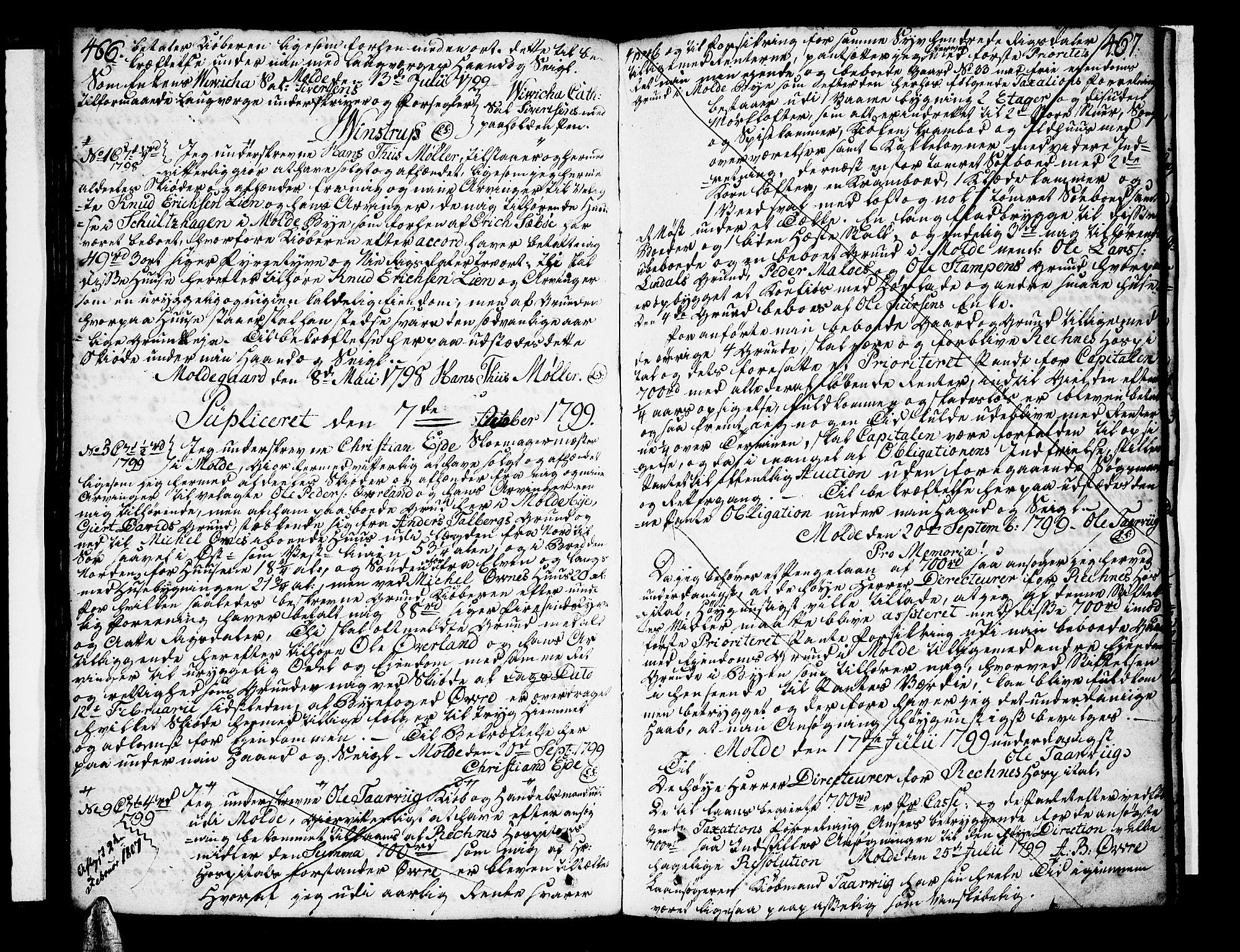 SAT, Molde byfogd, 2/2C/L0001: Pantebok nr. 1, 1748-1823, s. 466-467