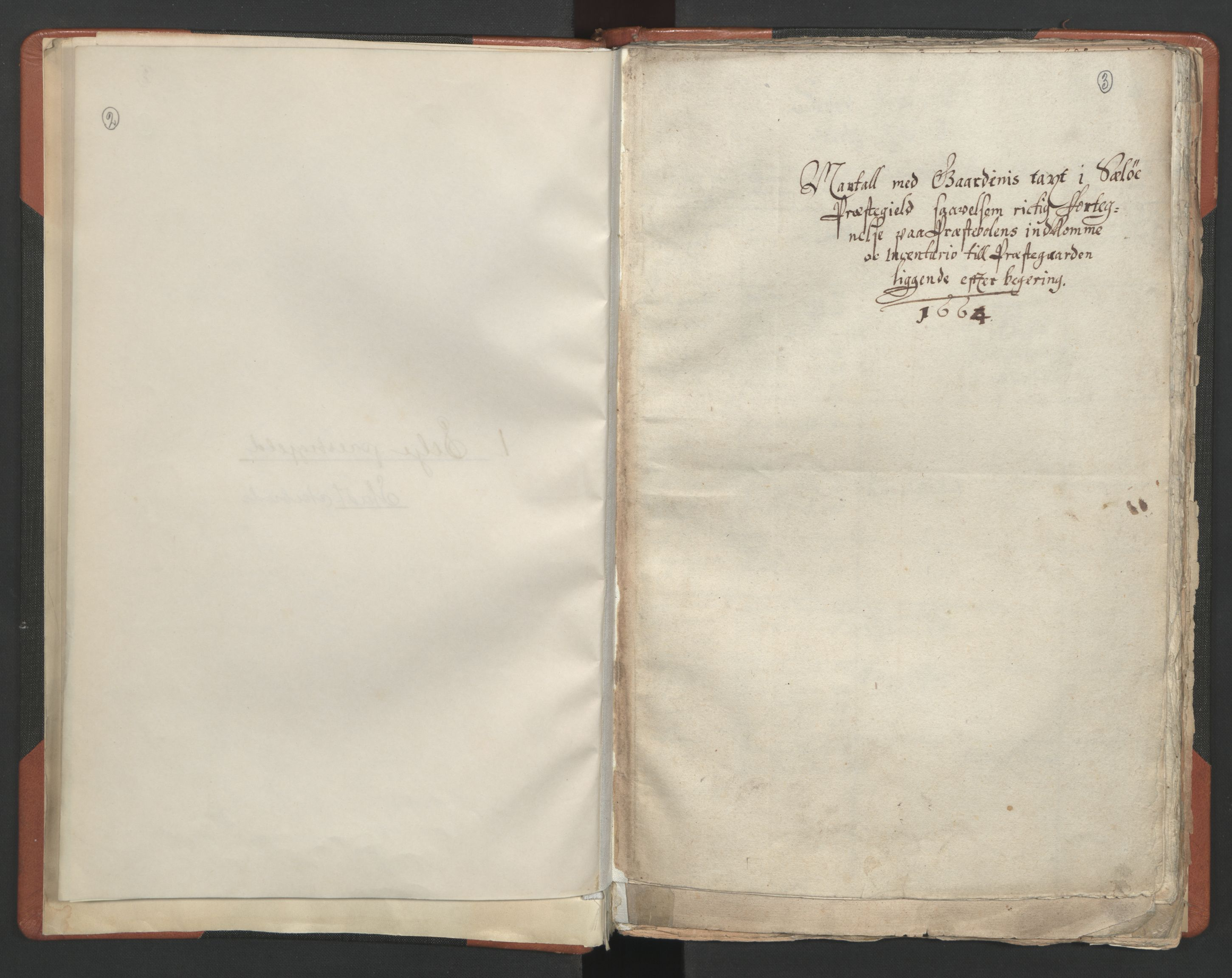 RA, Sogneprestenes manntall 1664-1666, nr. 25: Nordfjord prosti, 1664-1666, s. 2-3