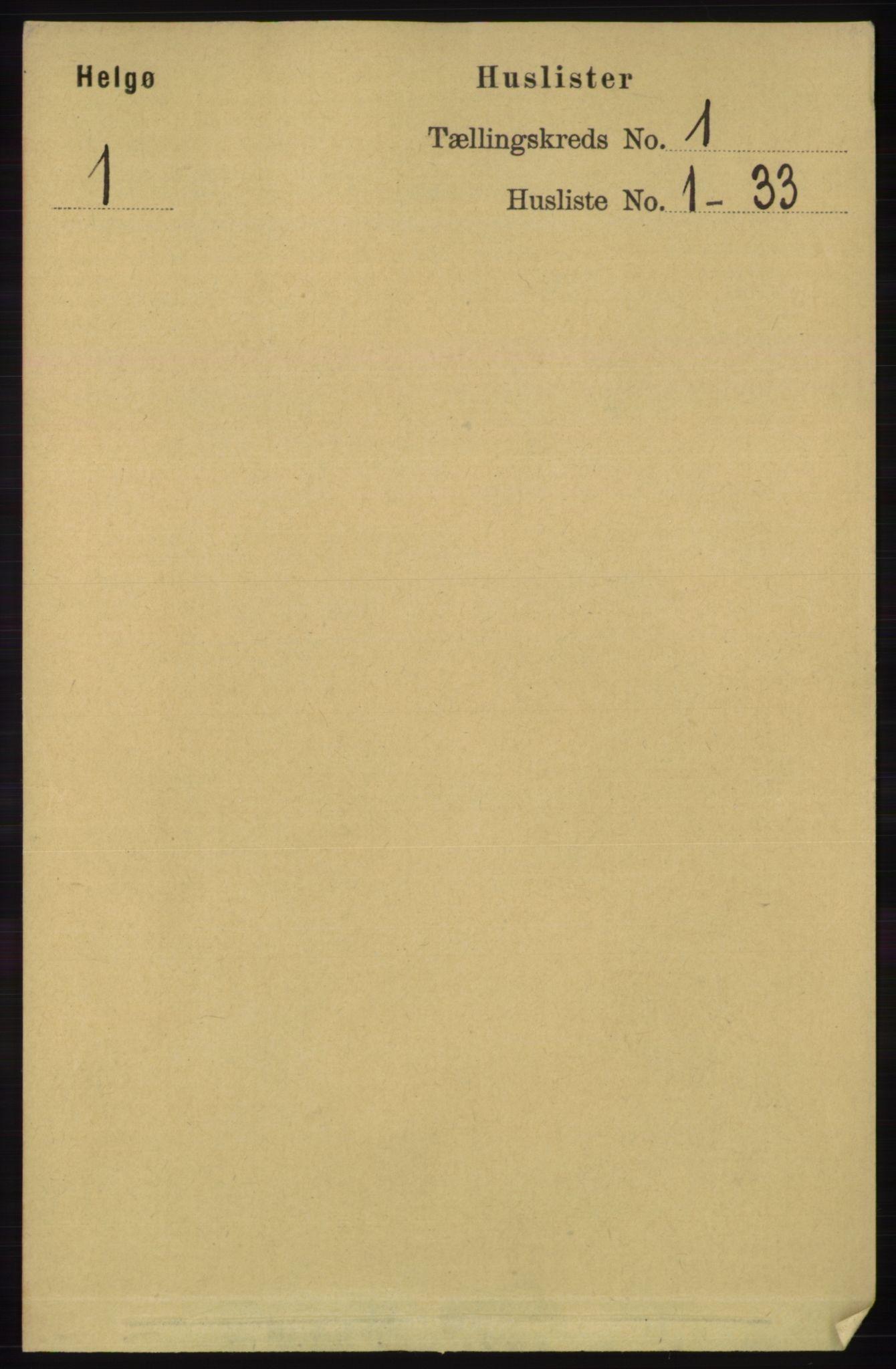 RA, Folketelling 1891 for 1935 Helgøy herred, 1891, s. 13