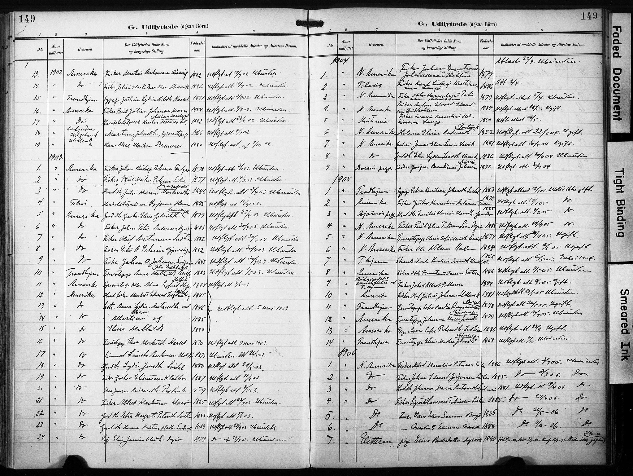 SAT, Ministerialprotokoller, klokkerbøker og fødselsregistre - Sør-Trøndelag, 640/L0580: Ministerialbok nr. 640A05, 1902-1910, s. 149
