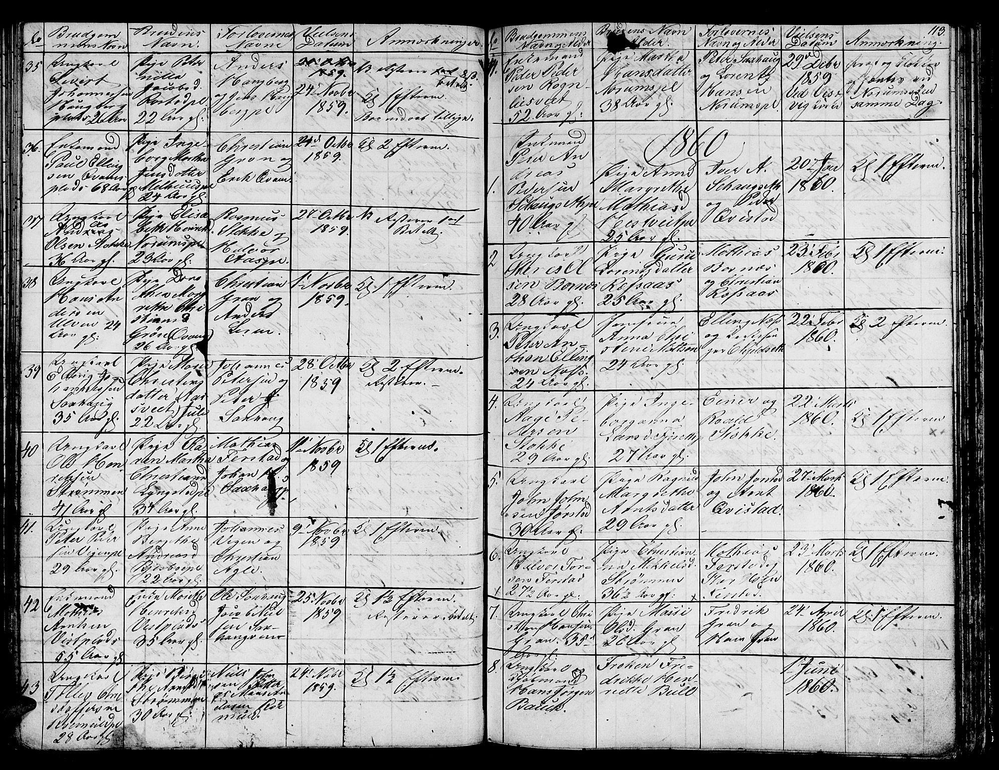 SAT, Ministerialprotokoller, klokkerbøker og fødselsregistre - Nord-Trøndelag, 730/L0299: Klokkerbok nr. 730C02, 1849-1871, s. 113