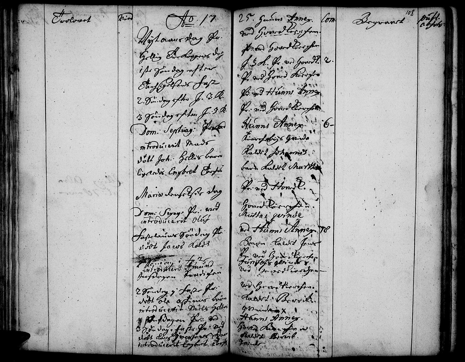 SAH, Vardal prestekontor, H/Ha/Haa/L0001: Ministerialbok nr. 1, 1706-1748, s. 108