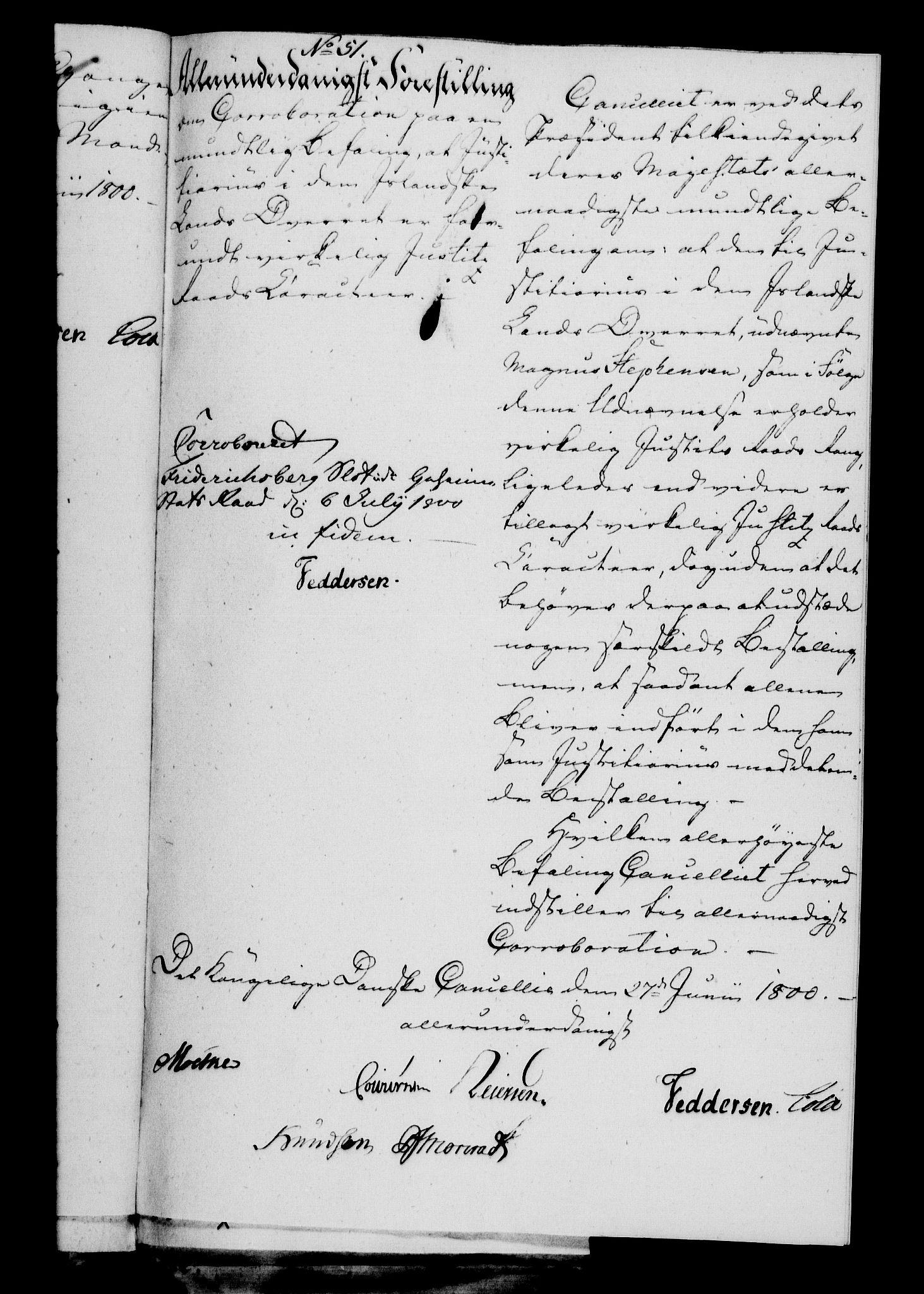 RA, Danske Kanselli 1800-1814, H/Hf/Hfa/Hfab/L0001: Forestillinger, 1800
