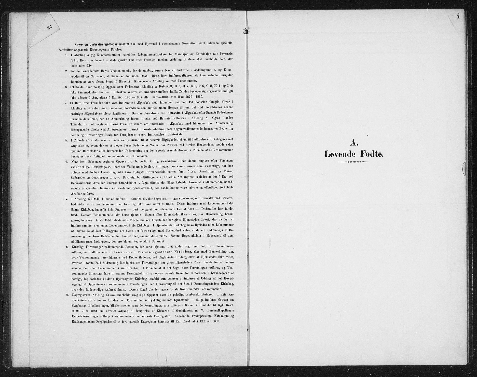 SAB, Aurland Sokneprestembete*, Klokkerbok nr. C 3, 1901-1933, s. 4