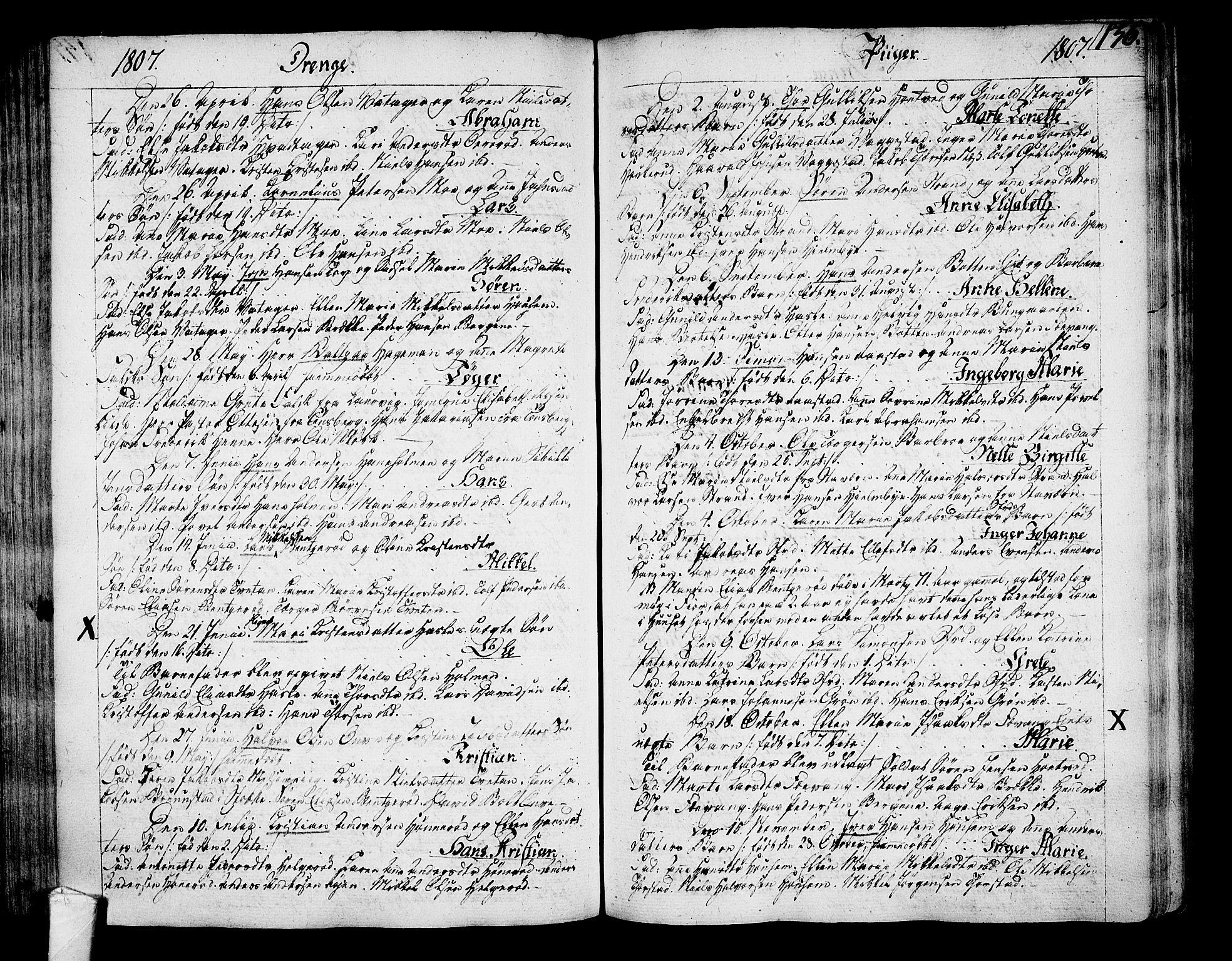 SAKO, Sandar kirkebøker, F/Fa/L0003: Ministerialbok nr. 3, 1789-1814, s. 136