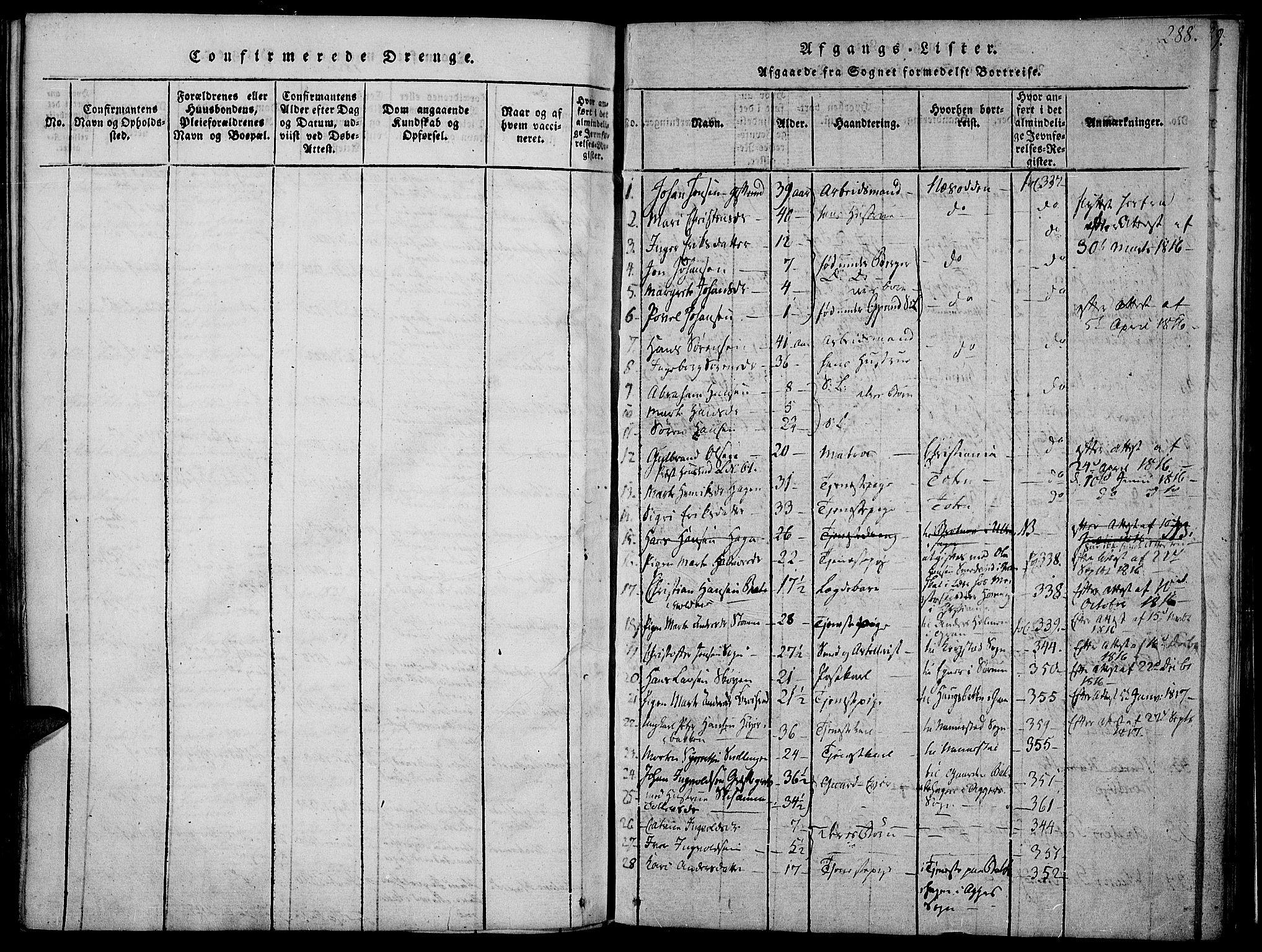 SAH, Jevnaker prestekontor, Ministerialbok nr. 5, 1815-1837, s. 288