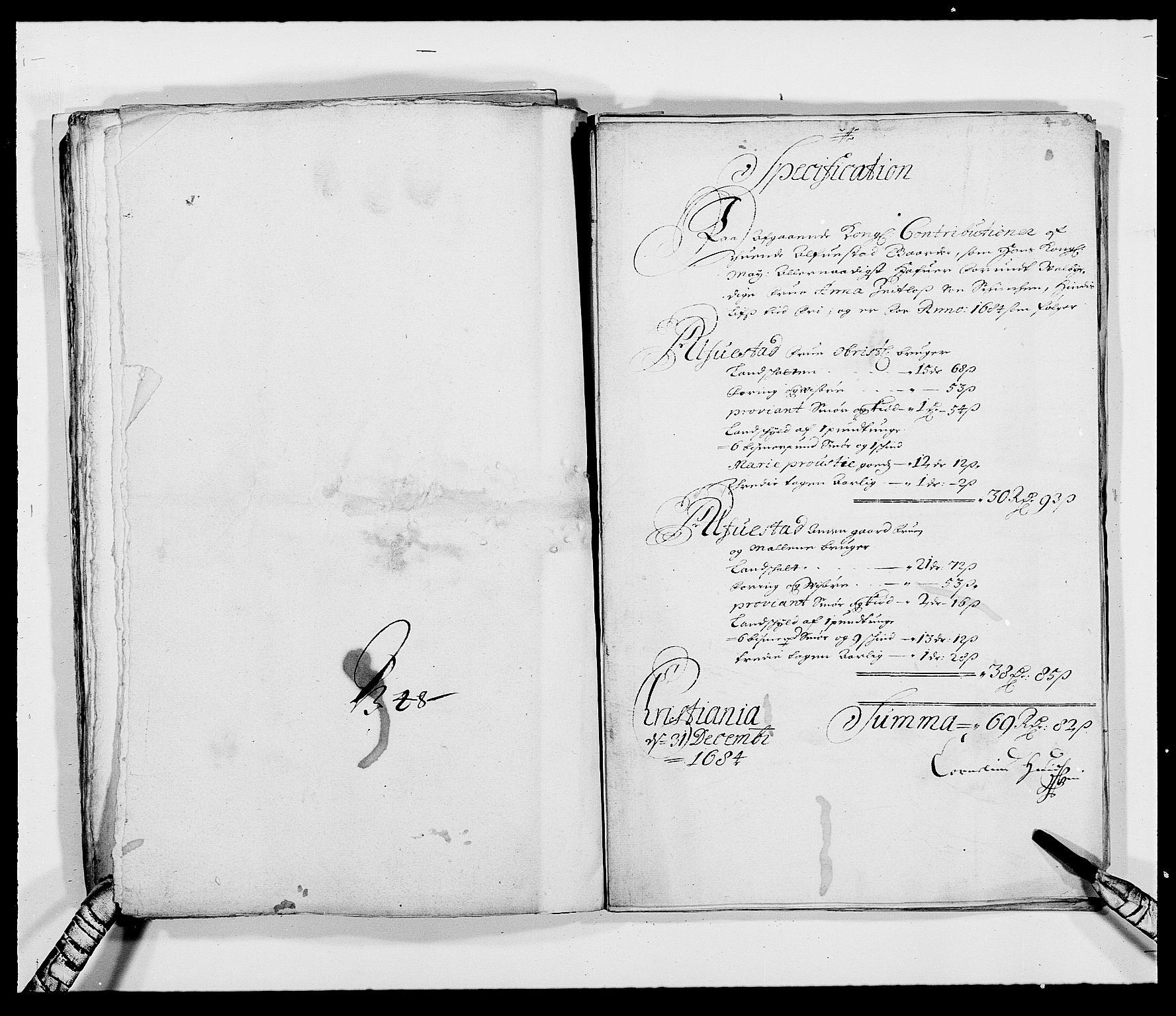 RA, Rentekammeret inntil 1814, Reviderte regnskaper, Fogderegnskap, R18/L1283: Fogderegnskap Hadeland, Toten og Valdres, 1684, s. 309