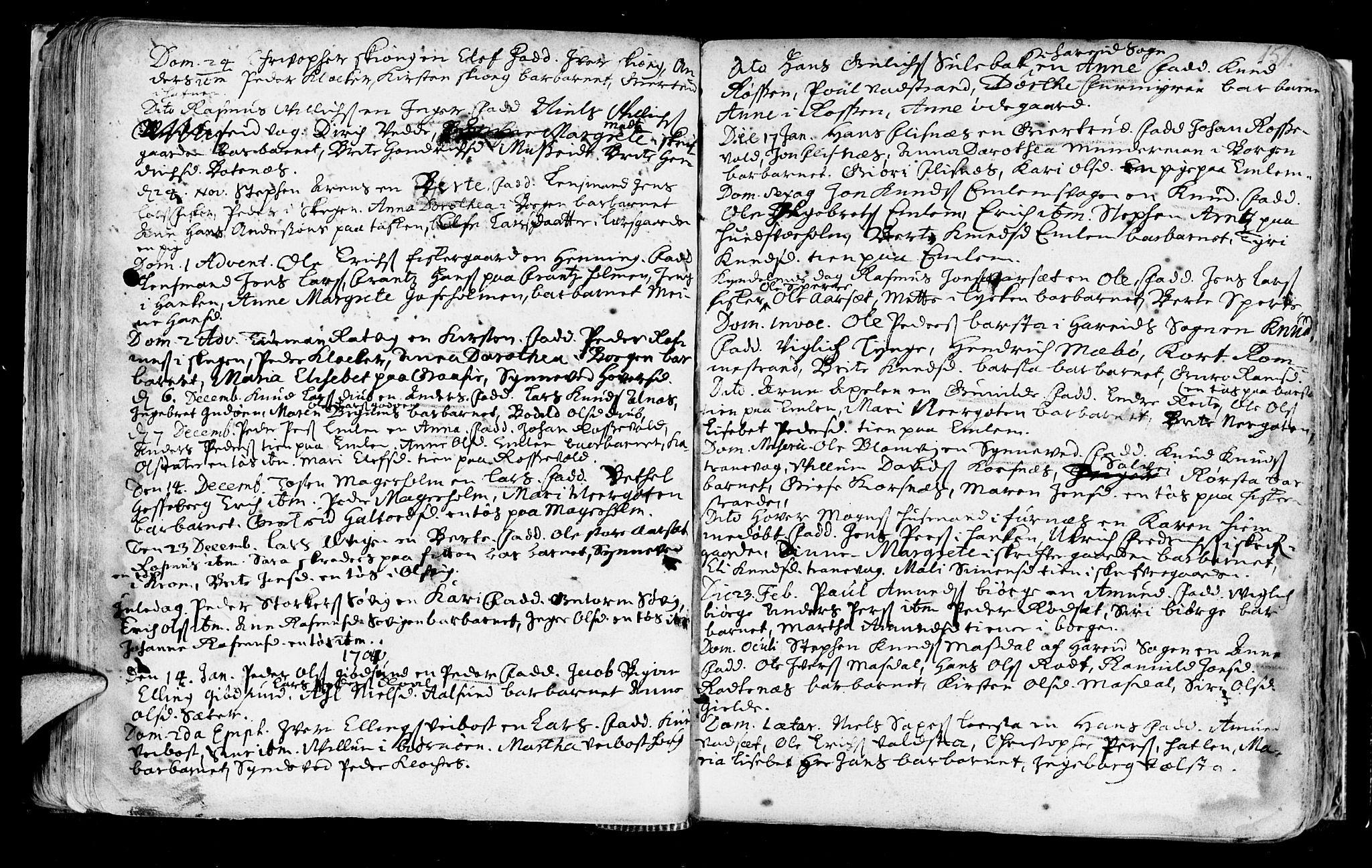 SAT, Ministerialprotokoller, klokkerbøker og fødselsregistre - Møre og Romsdal, 528/L0390: Ministerialbok nr. 528A01, 1698-1739, s. 150-151