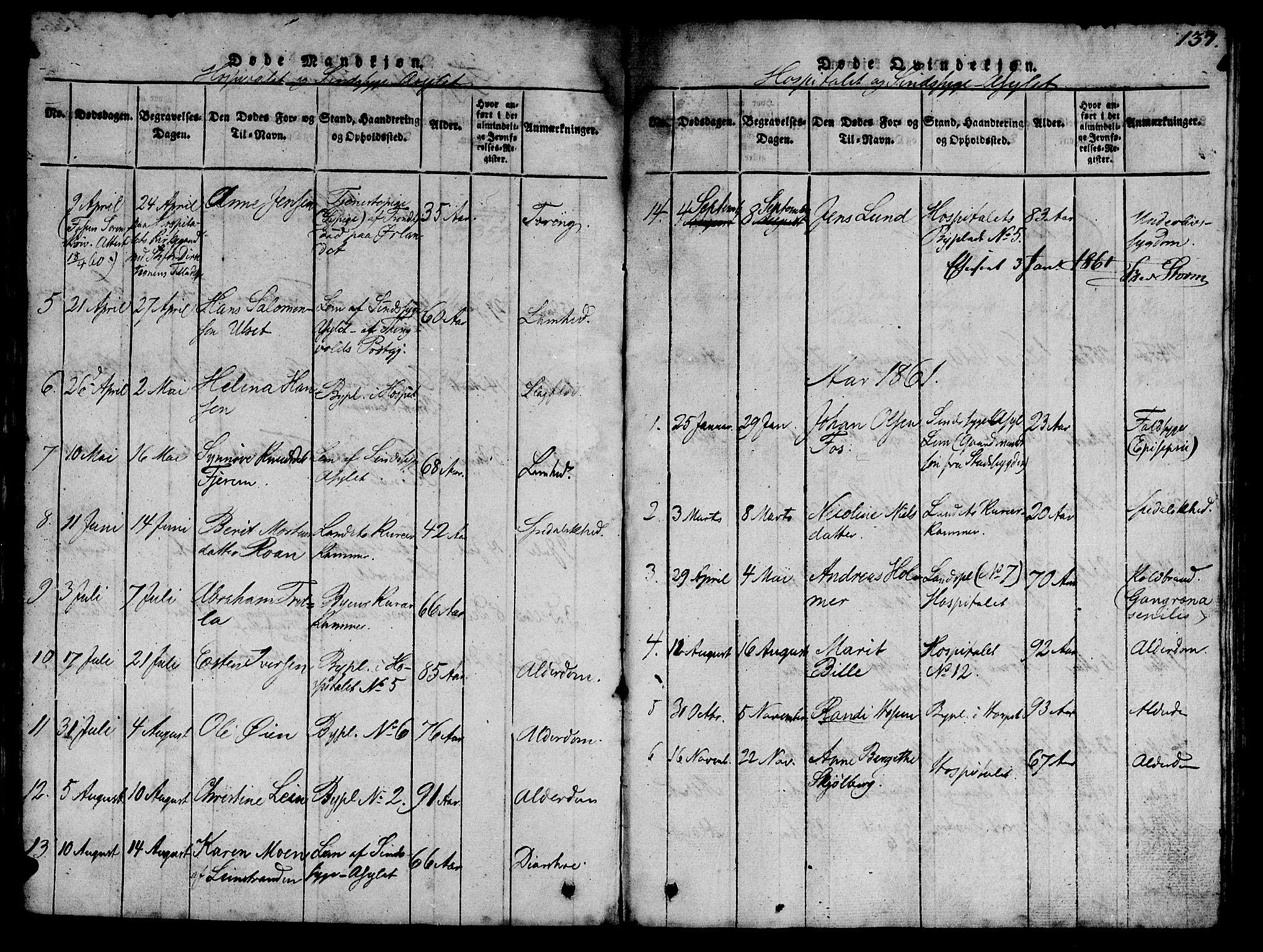 SAT, Ministerialprotokoller, klokkerbøker og fødselsregistre - Sør-Trøndelag, 623/L0478: Klokkerbok nr. 623C01, 1815-1873, s. 137