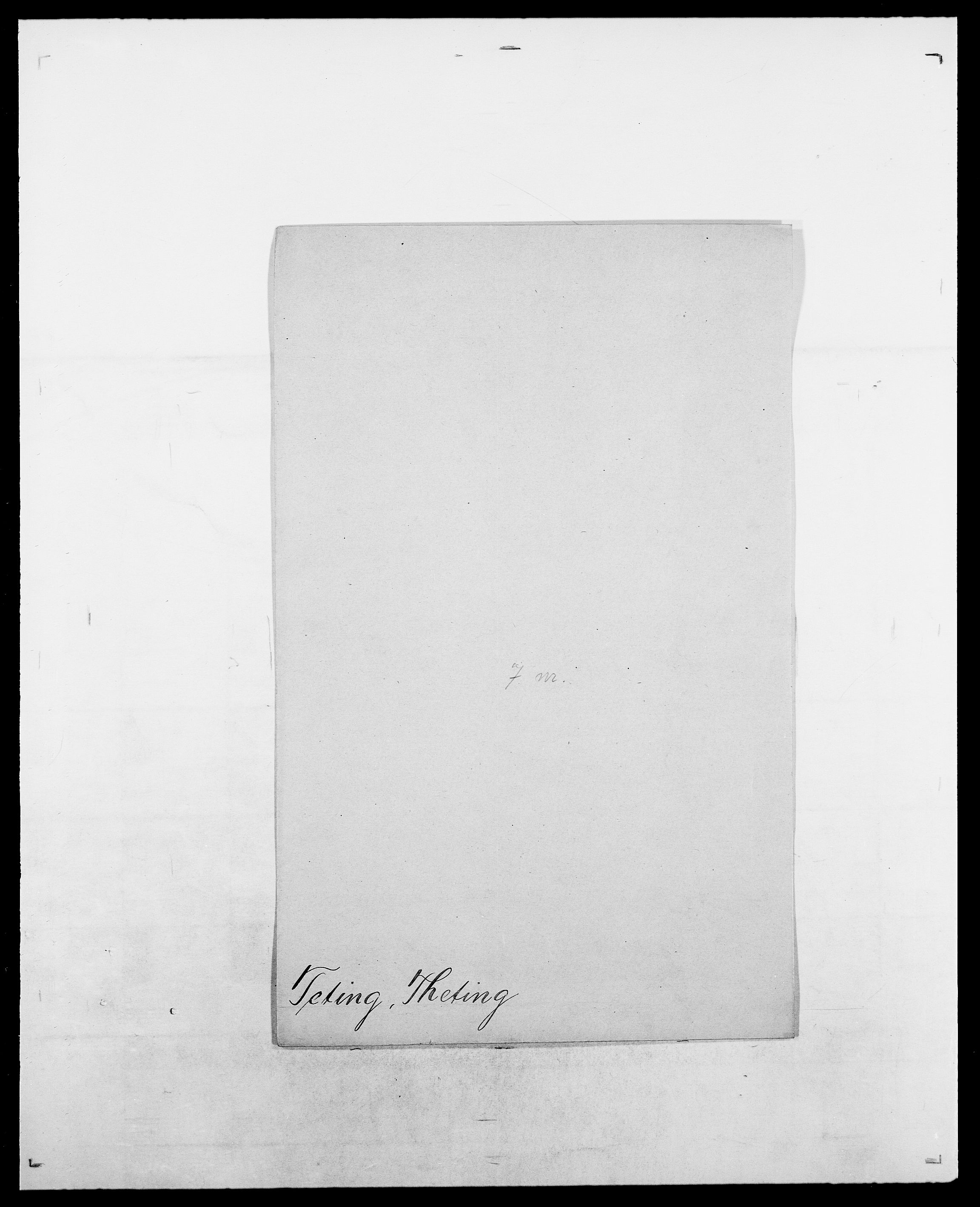 SAO, Delgobe, Charles Antoine - samling, D/Da/L0038: Svanenskjold - Thornsohn, s. 415