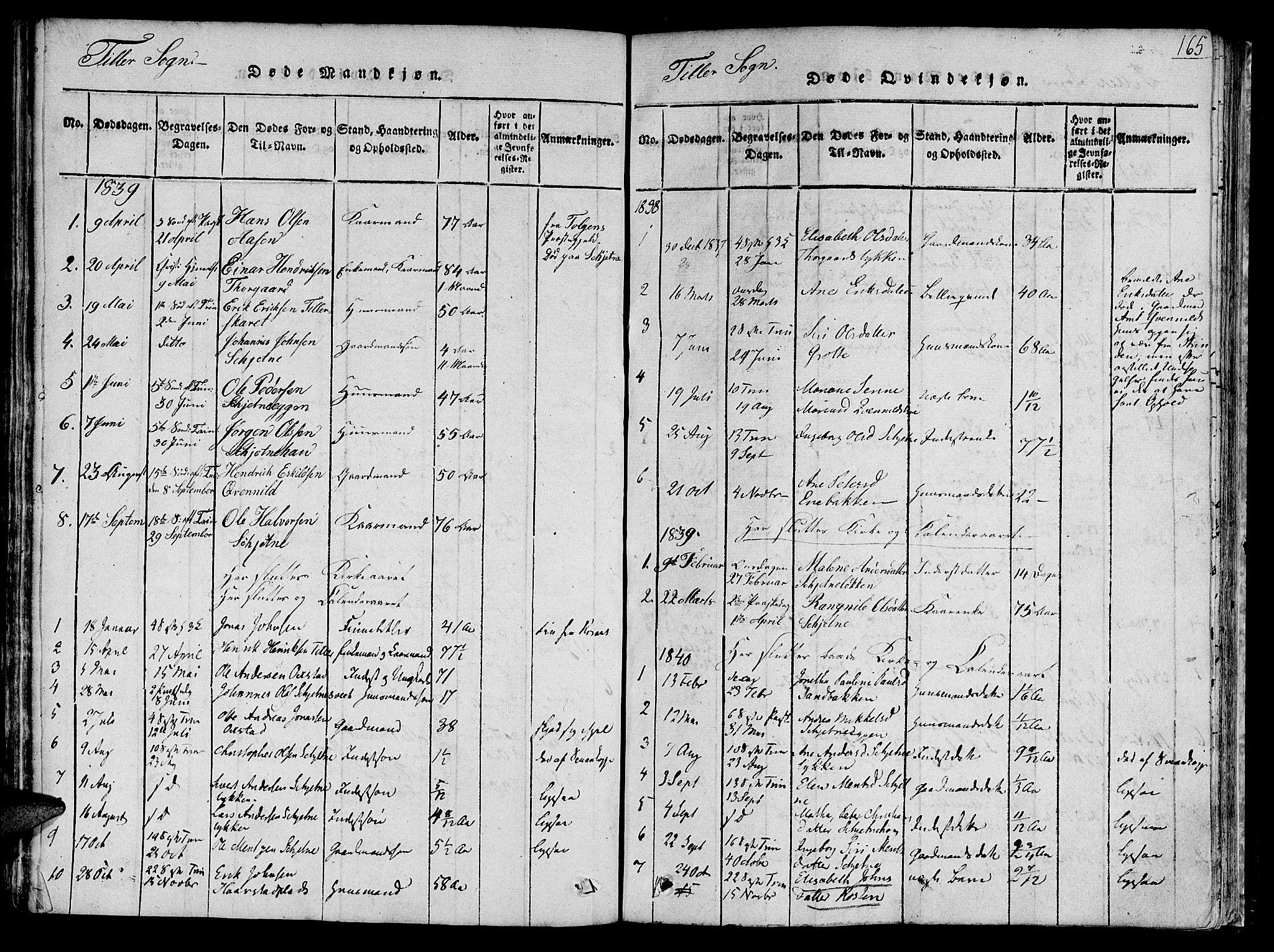 SAT, Ministerialprotokoller, klokkerbøker og fødselsregistre - Sør-Trøndelag, 618/L0440: Ministerialbok nr. 618A04 /2, 1816-1843, s. 165