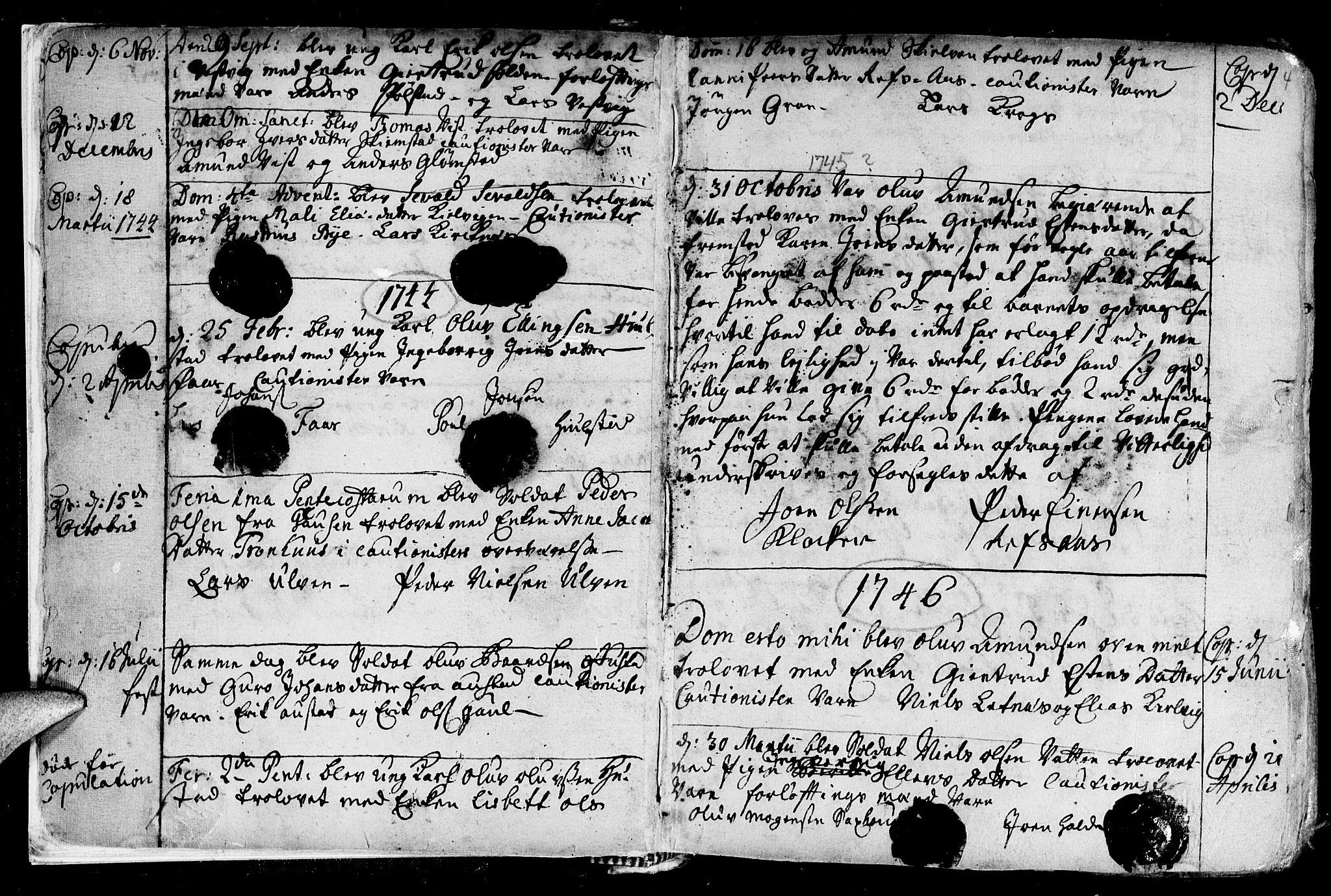 SAT, Ministerialprotokoller, klokkerbøker og fødselsregistre - Nord-Trøndelag, 730/L0272: Ministerialbok nr. 730A01, 1733-1764, s. 4