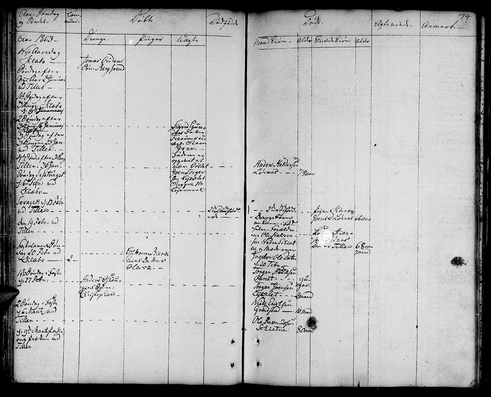 SAT, Ministerialprotokoller, klokkerbøker og fødselsregistre - Sør-Trøndelag, 618/L0438: Ministerialbok nr. 618A03, 1783-1815, s. 74