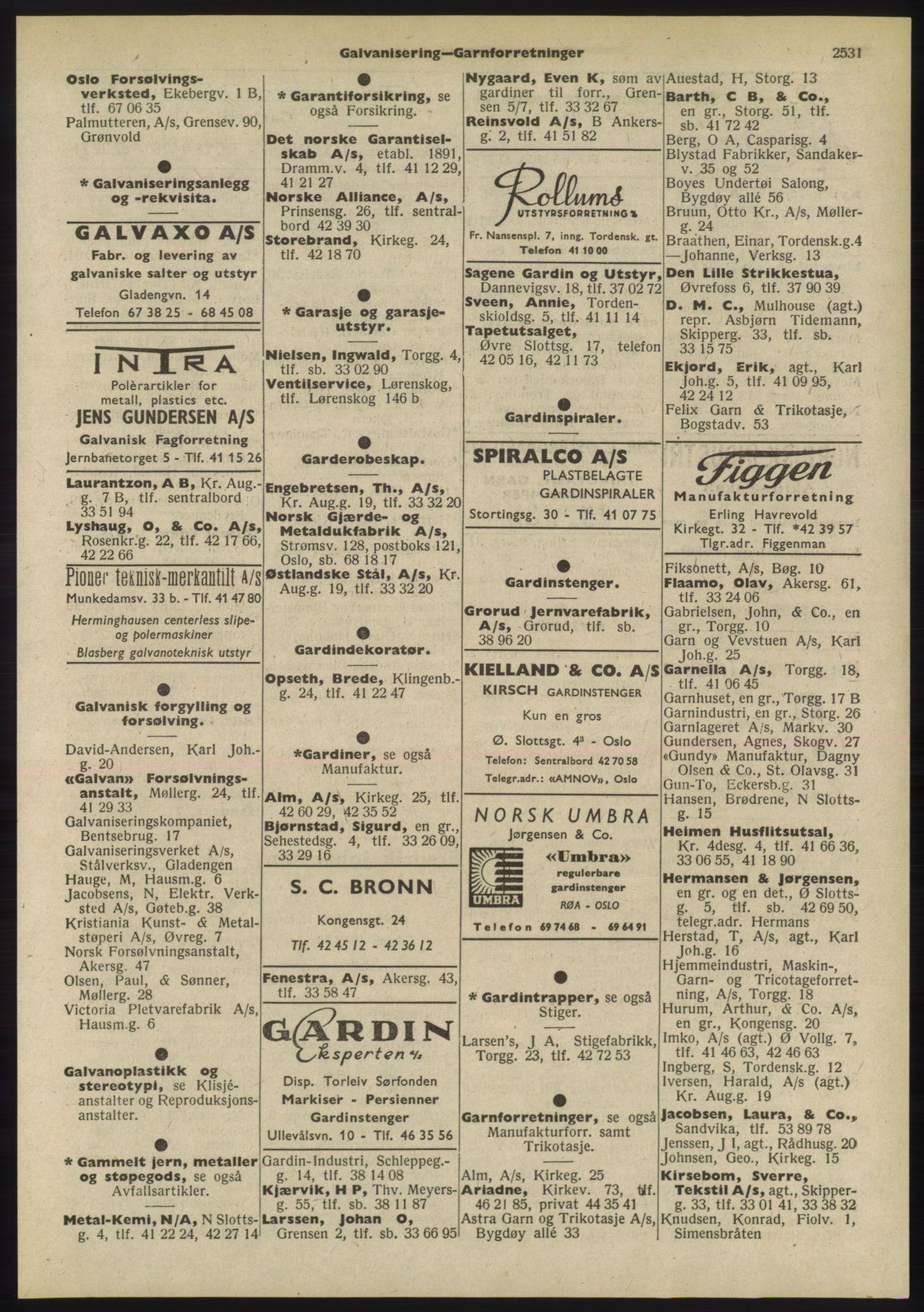 PUBL, Kristiania/Oslo adressebok, 1955, s. 2531