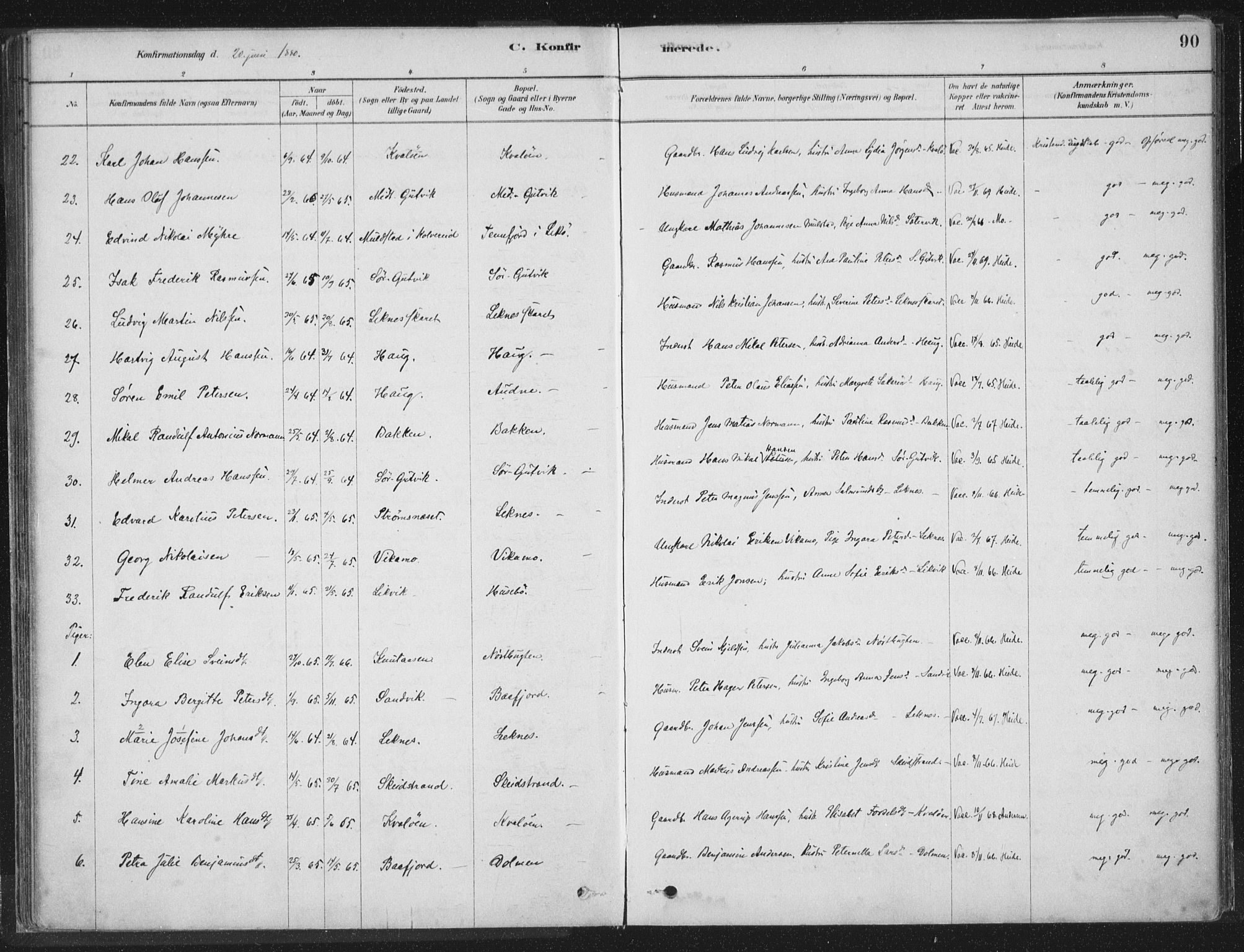 SAT, Ministerialprotokoller, klokkerbøker og fødselsregistre - Nord-Trøndelag, 788/L0697: Ministerialbok nr. 788A04, 1878-1902, s. 90