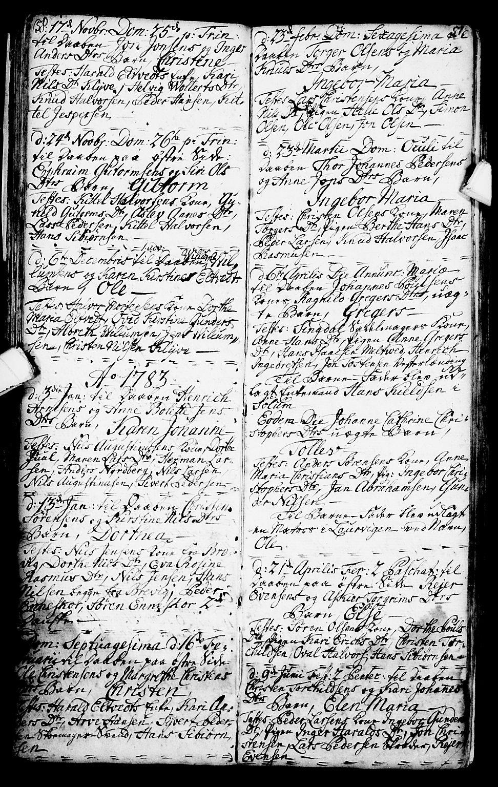 SAKO, Porsgrunn kirkebøker , G/Ga/L0001: Klokkerbok nr. I 1, 1766-1790, s. 50-51