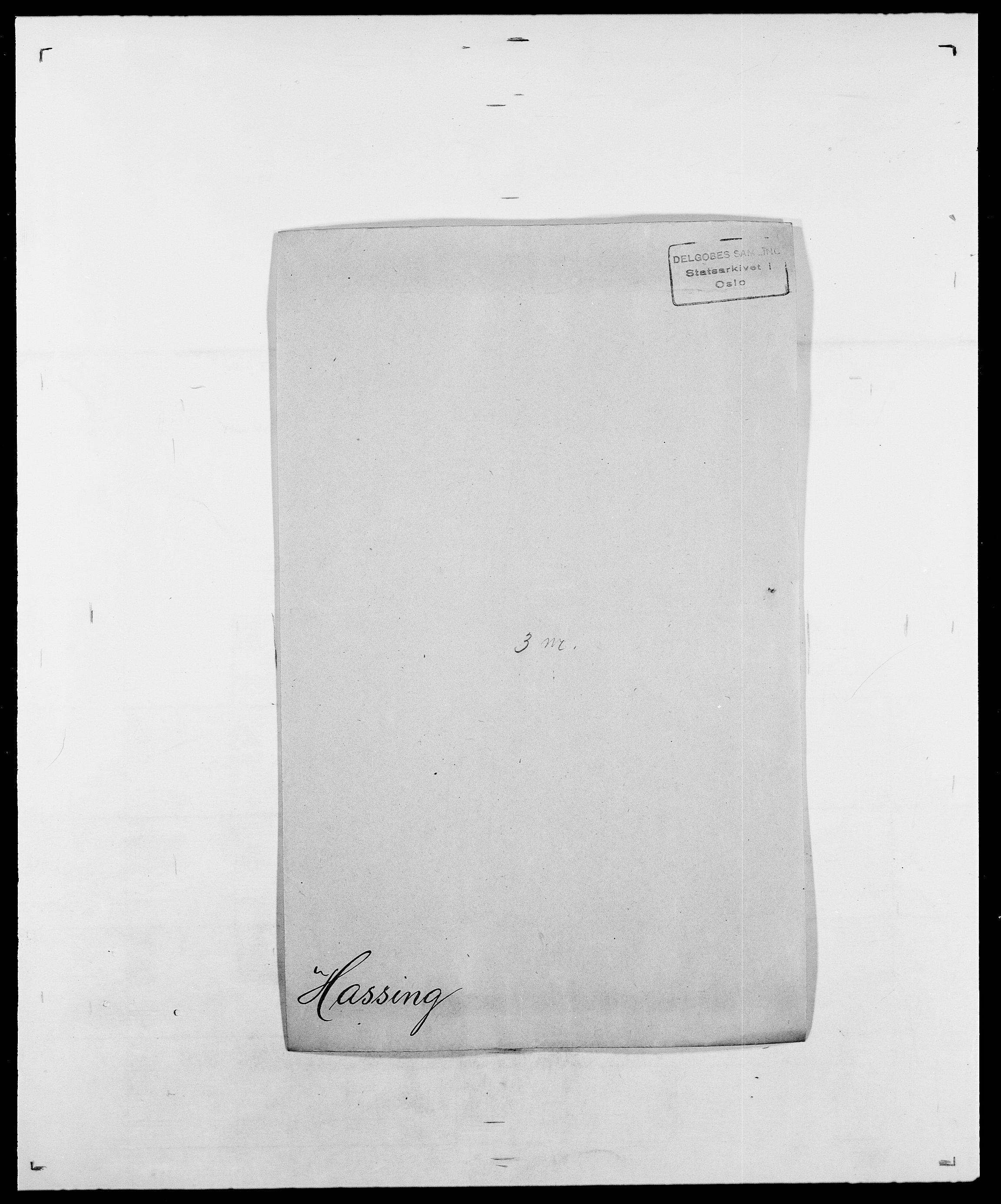 SAO, Delgobe, Charles Antoine - samling, D/Da/L0016: Hamborg - Hektoen, s. 543