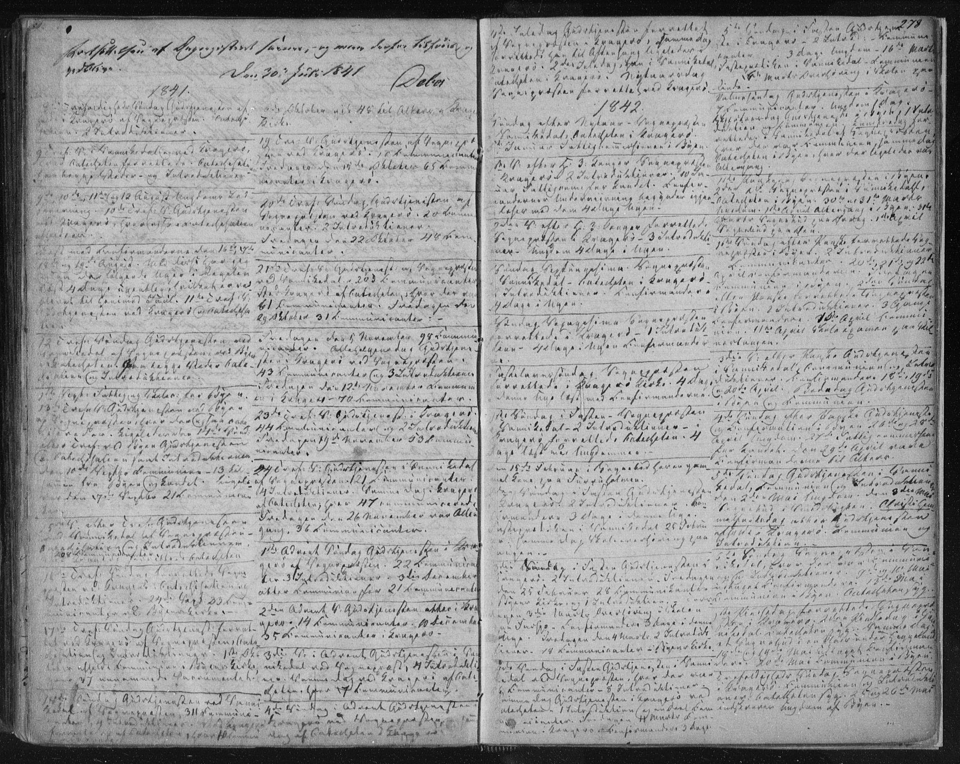 SAKO, Kragerø kirkebøker, F/Fa/L0005: Ministerialbok nr. 5, 1832-1847, s. 278