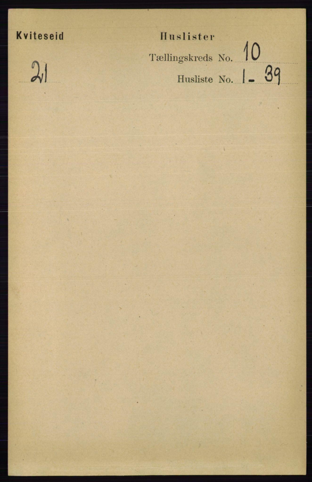 RA, Folketelling 1891 for 0829 Kviteseid herred, 1891, s. 2237