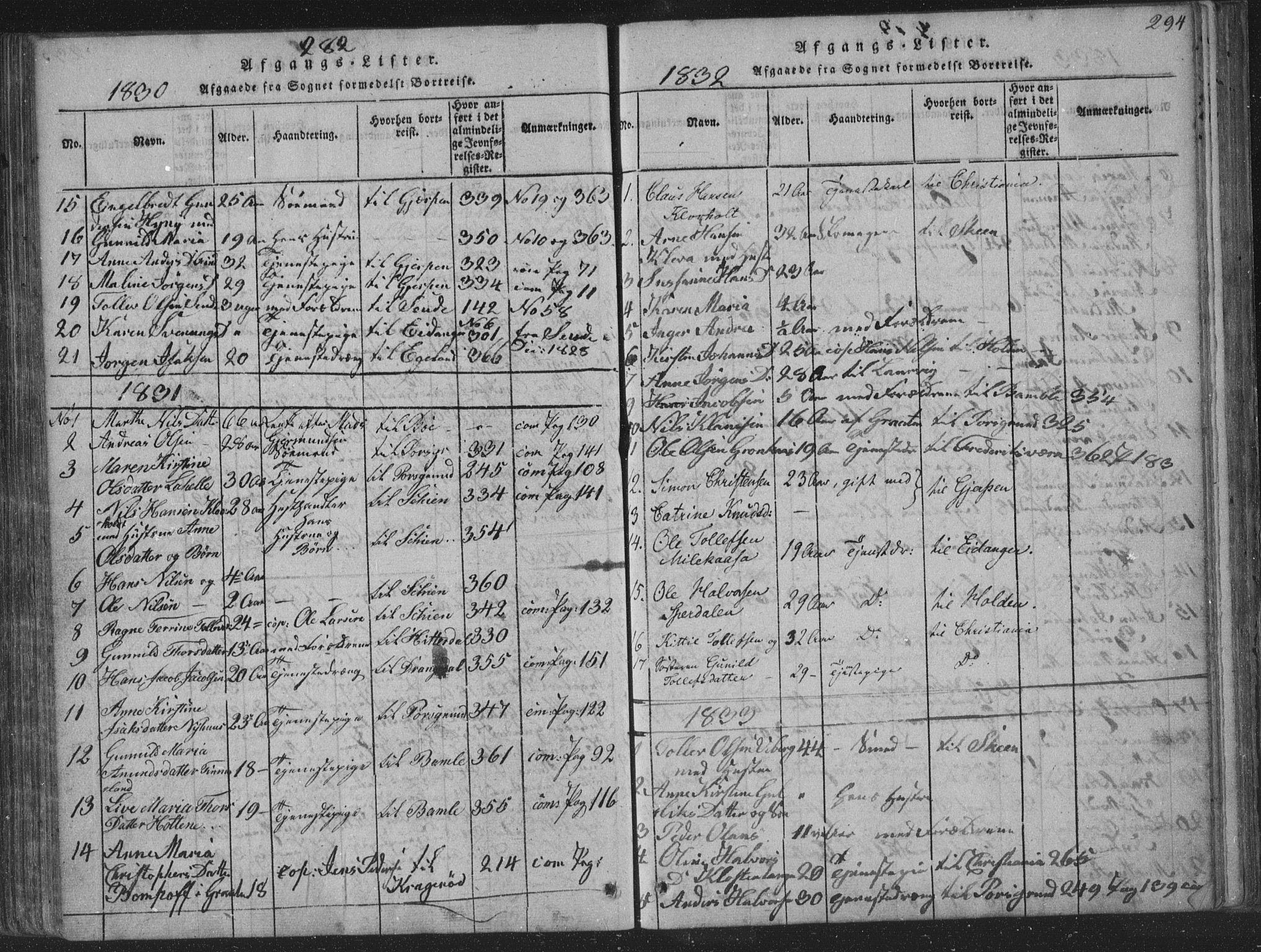 SAKO, Solum kirkebøker, F/Fa/L0004: Ministerialbok nr. I 4, 1814-1833, s. 294
