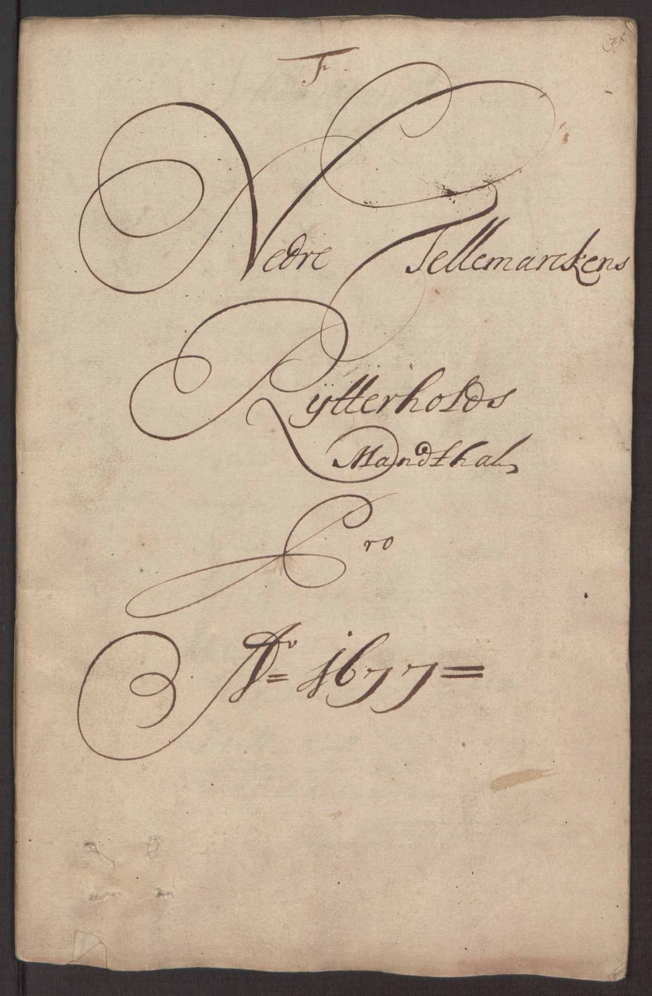 RA, Rentekammeret inntil 1814, Reviderte regnskaper, Fogderegnskap, R35/L2068: Fogderegnskap Øvre og Nedre Telemark, 1677, s. 118