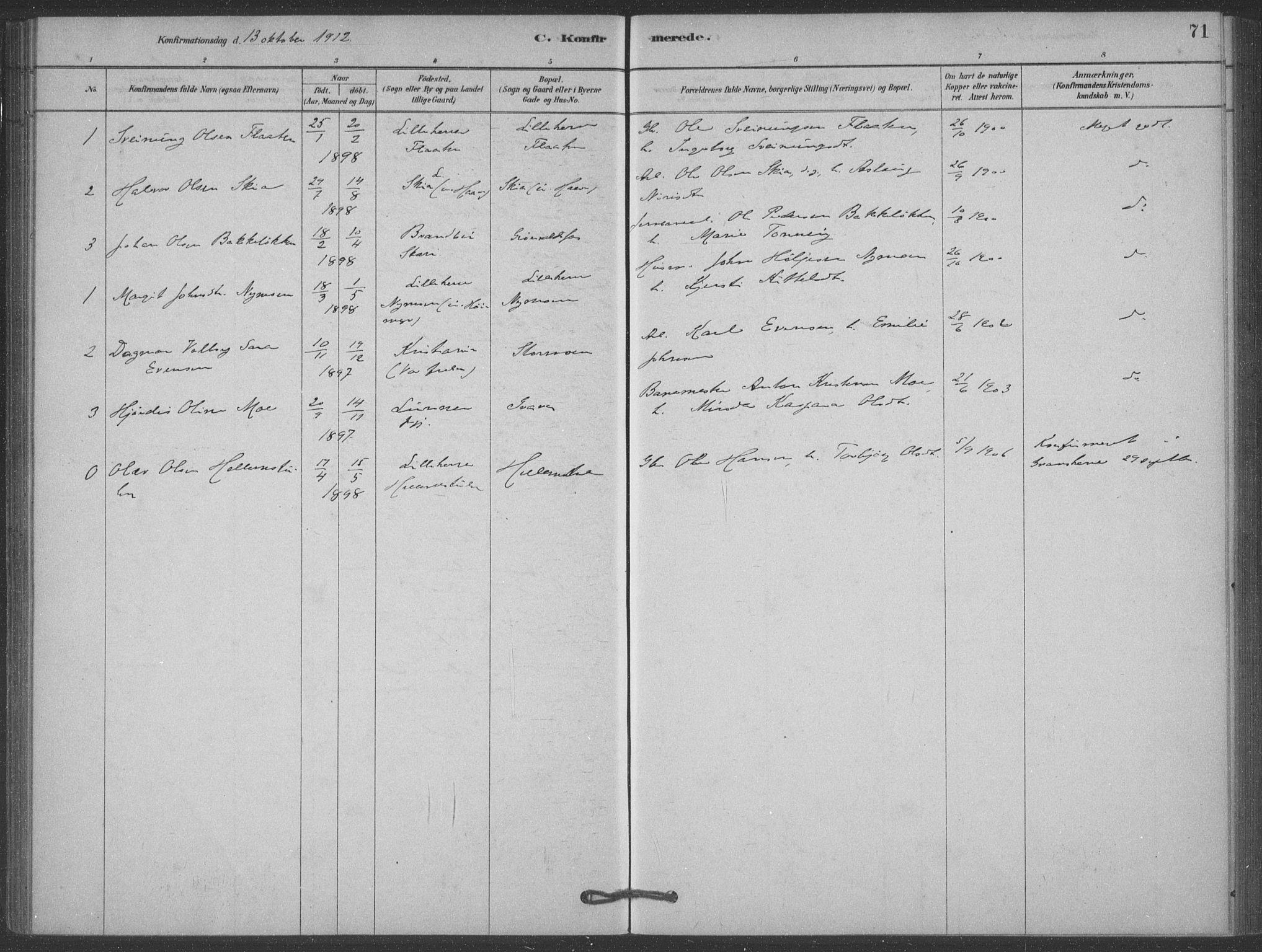 SAKO, Heddal kirkebøker, F/Fb/L0002: Ministerialbok nr. II 2, 1878-1913, s. 71