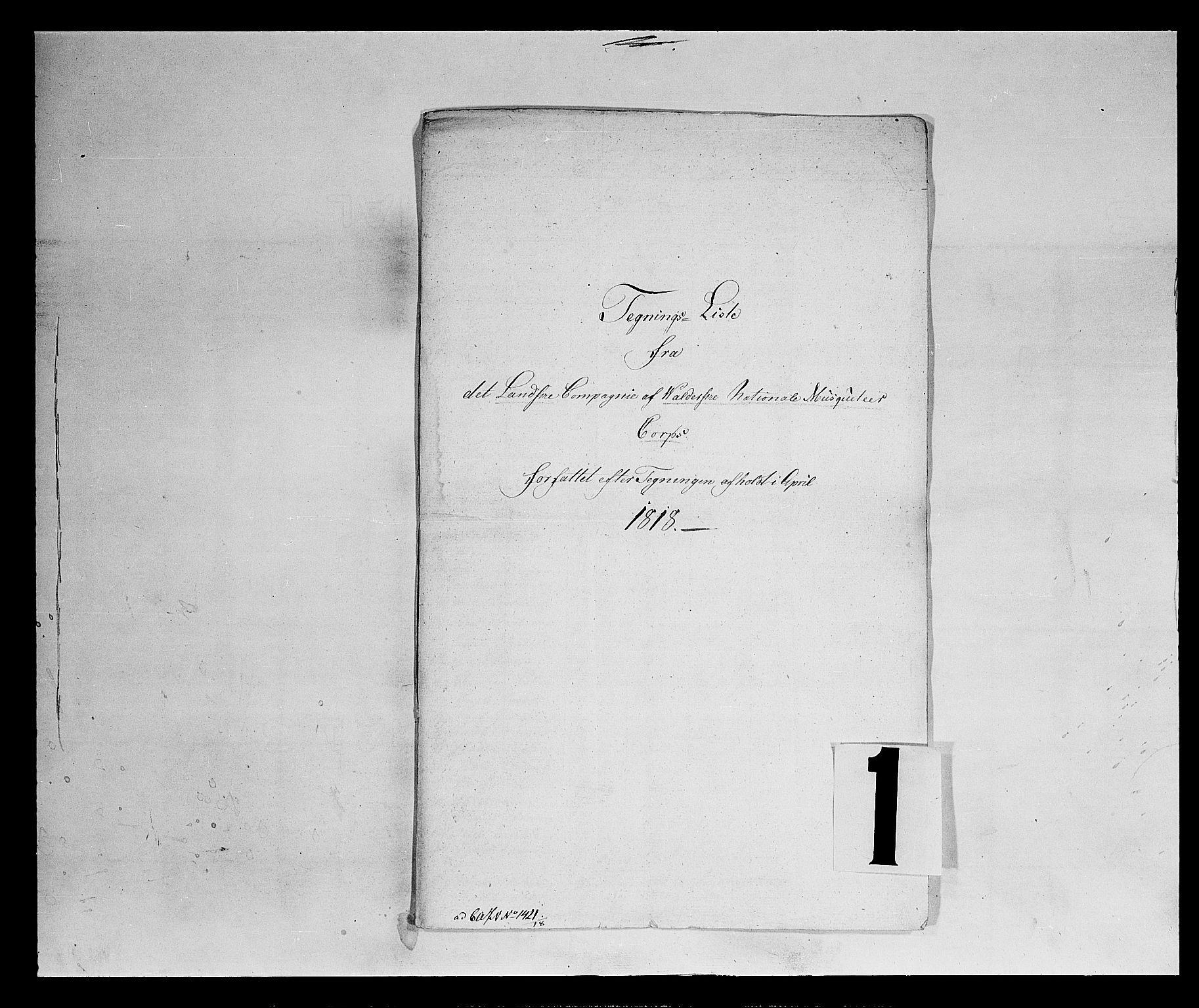 SAH, Fylkesmannen i Oppland, K/Kb/L1158: Valderske nasjonale musketérkorps - Landske kompani, 1818-1860, s. 2