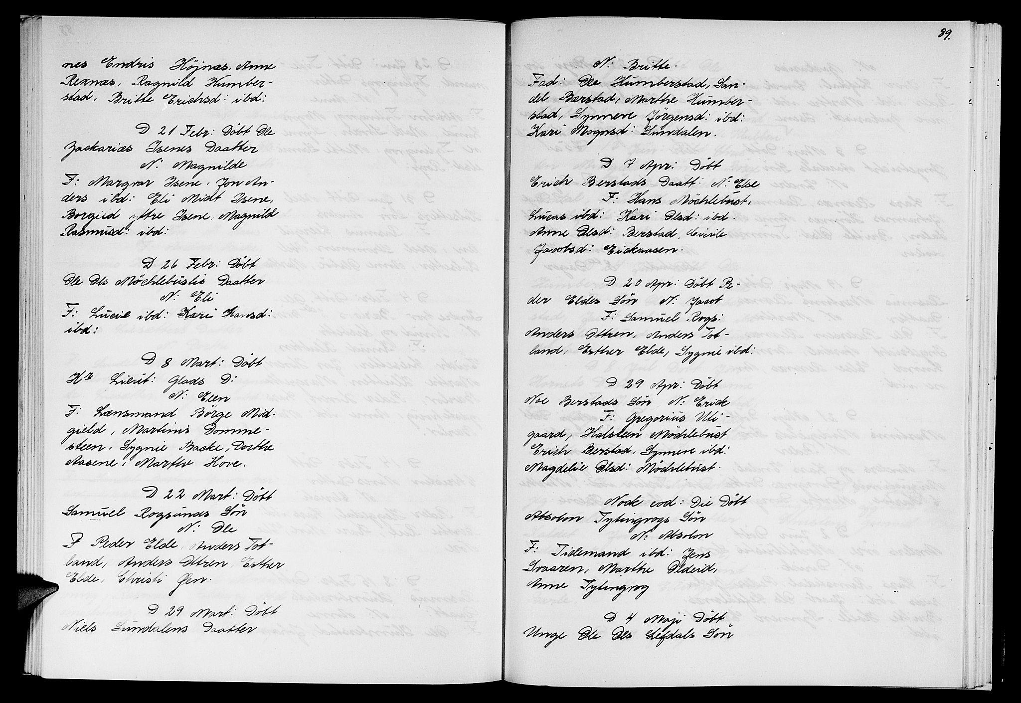 SAB, Davik sokneprestembete, Ministerialbok nr. A 1, 1710-1742, s. 89