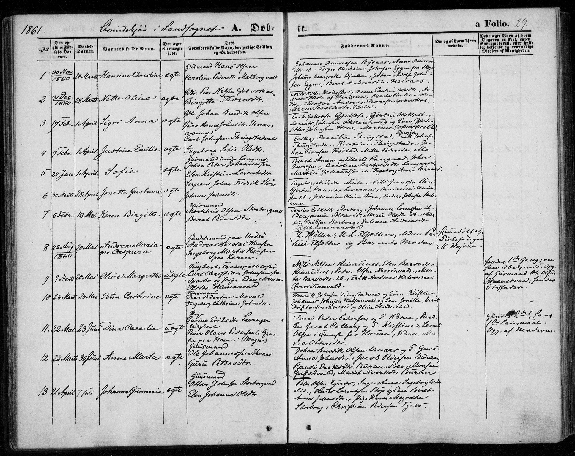 SAT, Ministerialprotokoller, klokkerbøker og fødselsregistre - Nord-Trøndelag, 720/L0184: Ministerialbok nr. 720A02 /2, 1855-1863, s. 29