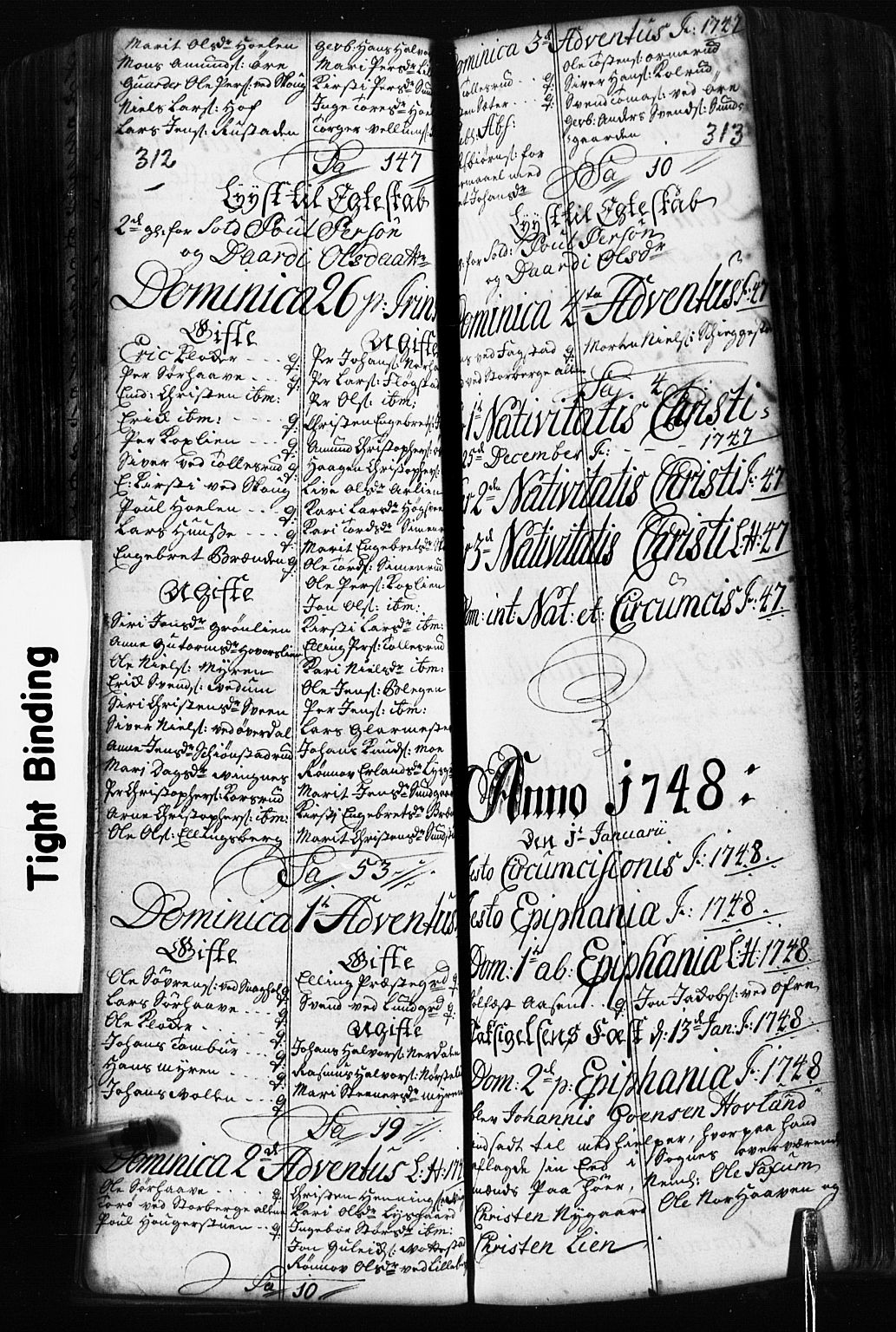 SAH, Fåberg prestekontor, Klokkerbok nr. 2, 1741-1756, s. 312-313