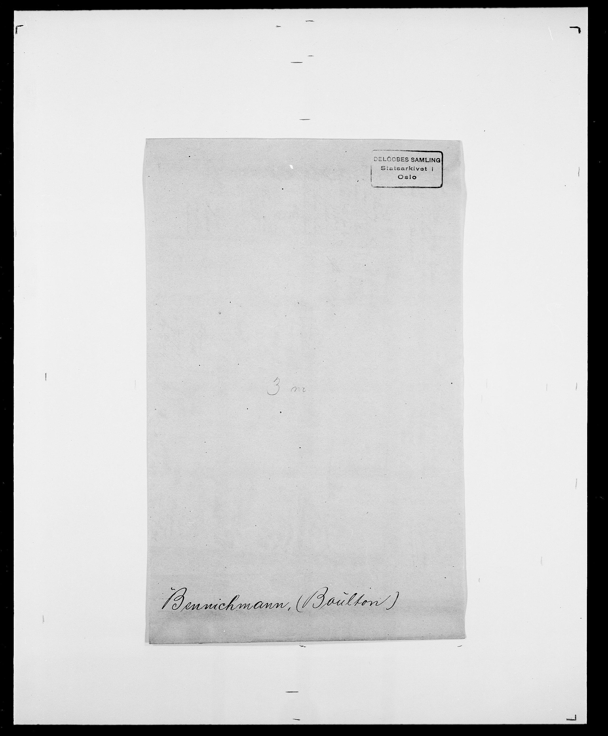 SAO, Delgobe, Charles Antoine - samling, D/Da/L0003: Barca - Bergen, s. 787