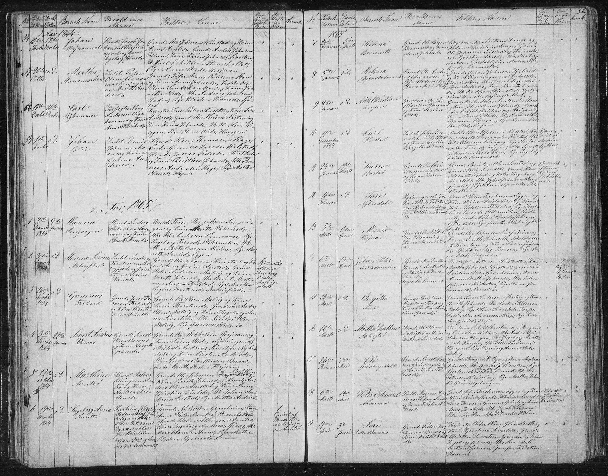 SAT, Ministerialprotokoller, klokkerbøker og fødselsregistre - Sør-Trøndelag, 616/L0406: Ministerialbok nr. 616A03, 1843-1879, s. 60