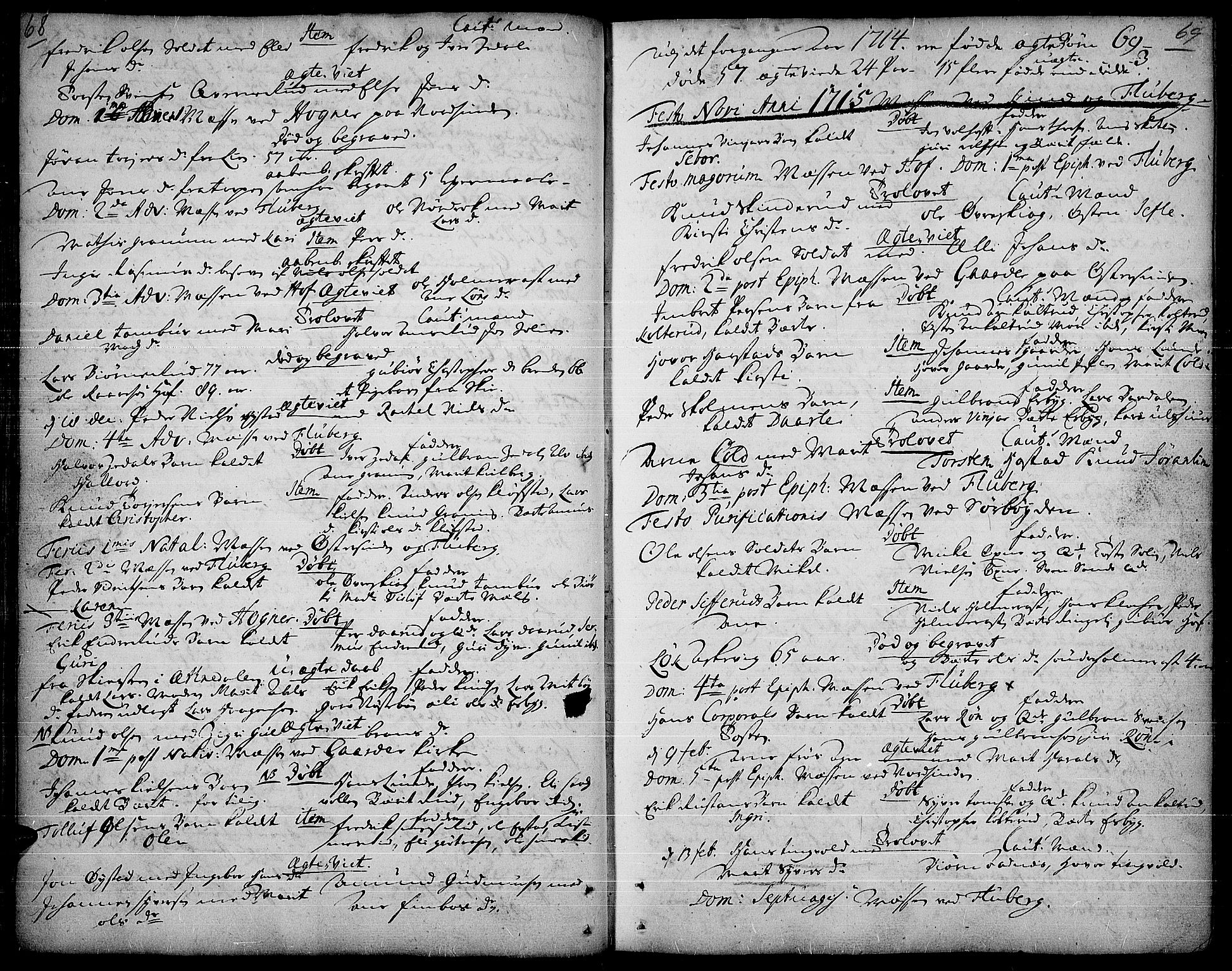 SAH, Land prestekontor, Ministerialbok nr. 1, 1708-1732, s. 68-69