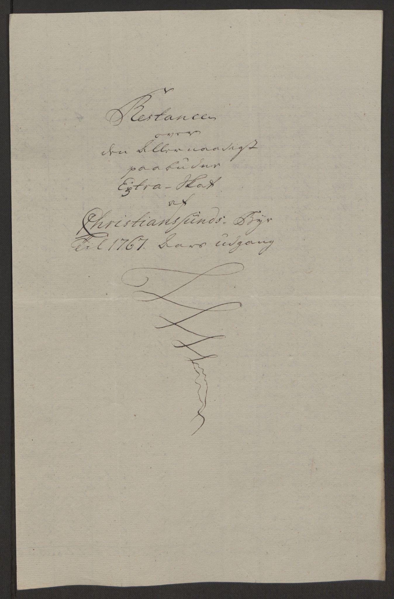 RA, Rentekammeret inntil 1814, Reviderte regnskaper, Byregnskaper, R/Rr/L0495: [R1] Kontribusjonsregnskap, 1762-1772, s. 147