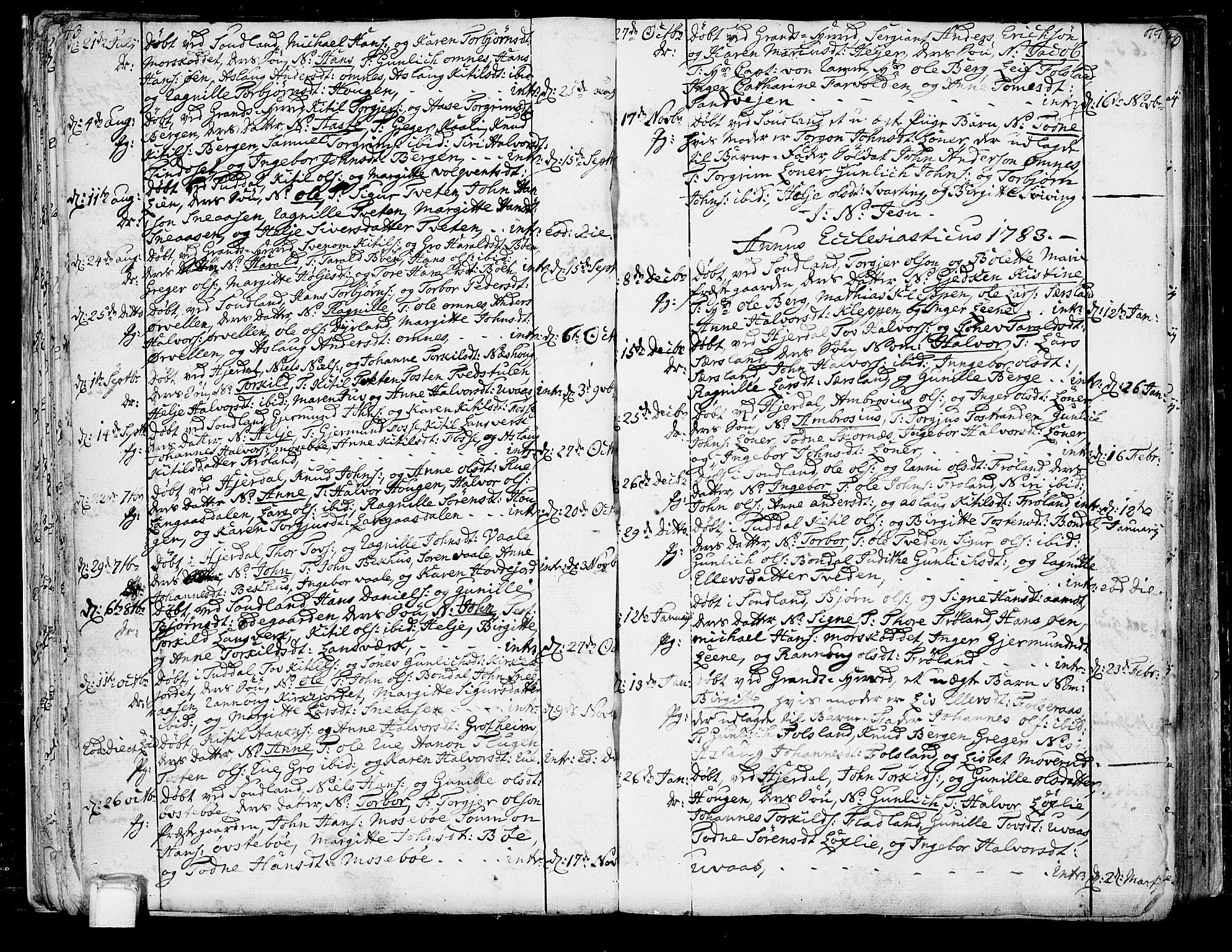 SAKO, Hjartdal kirkebøker, F/Fa/L0005: Ministerialbok nr. I 5, 1776-1801, s. 43-44