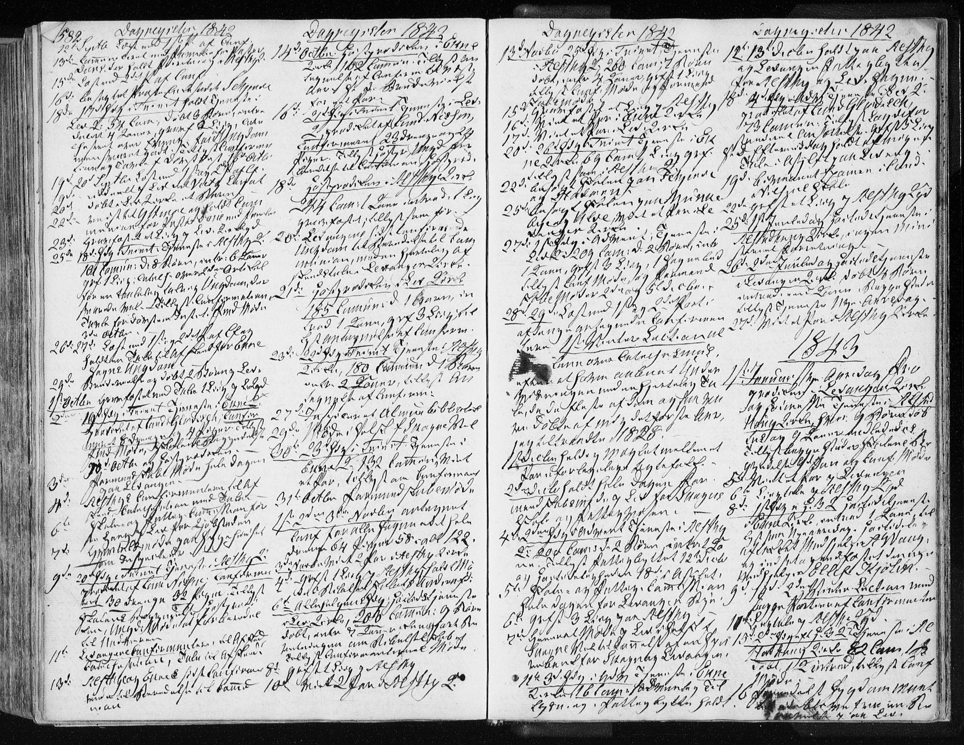 SAT, Ministerialprotokoller, klokkerbøker og fødselsregistre - Nord-Trøndelag, 717/L0154: Ministerialbok nr. 717A06 /1, 1836-1849, s. 582