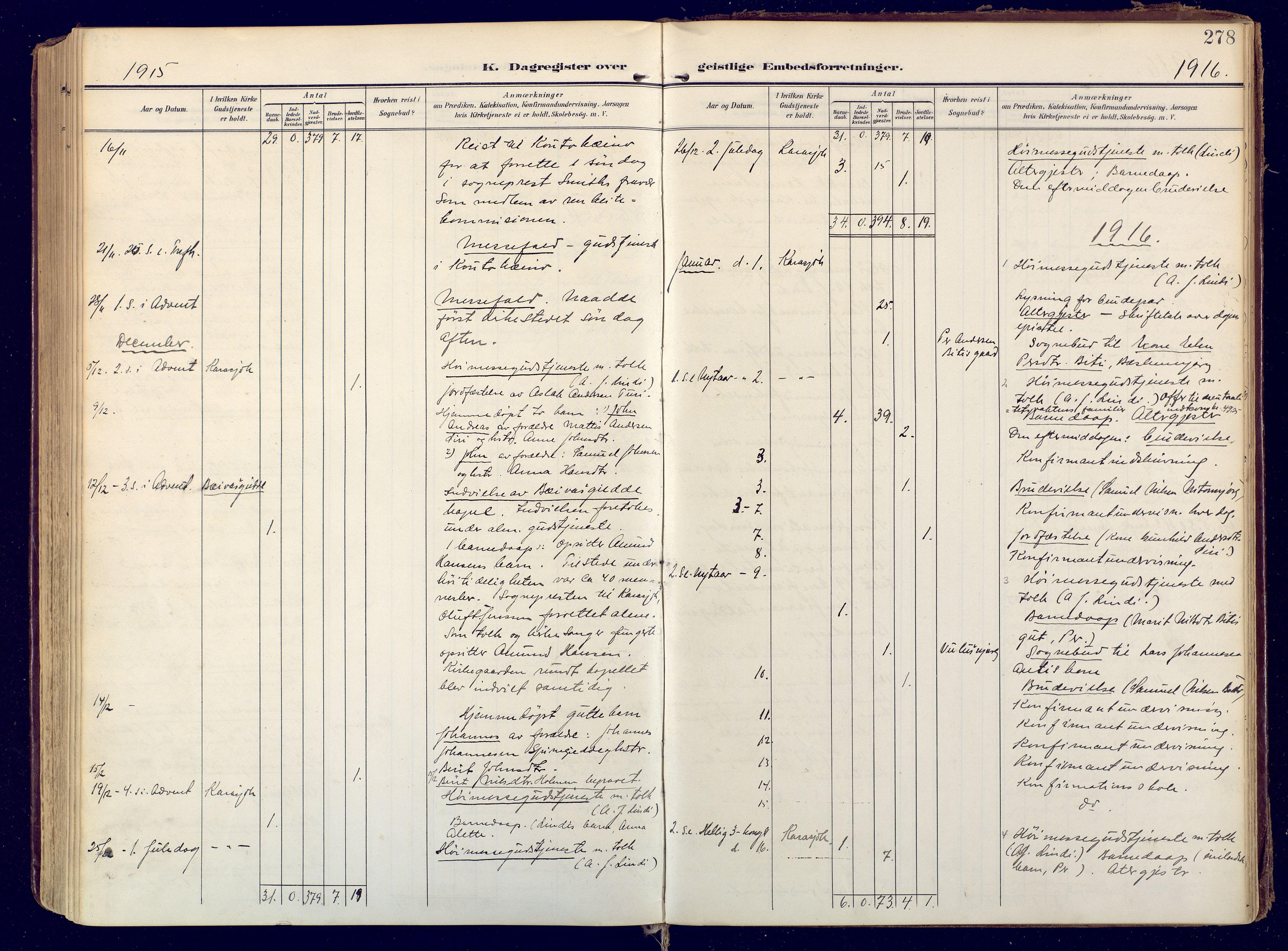 SATØ, Karasjok sokneprestkontor, H/Ha: Ministerialbok nr. 3, 1907-1926, s. 278