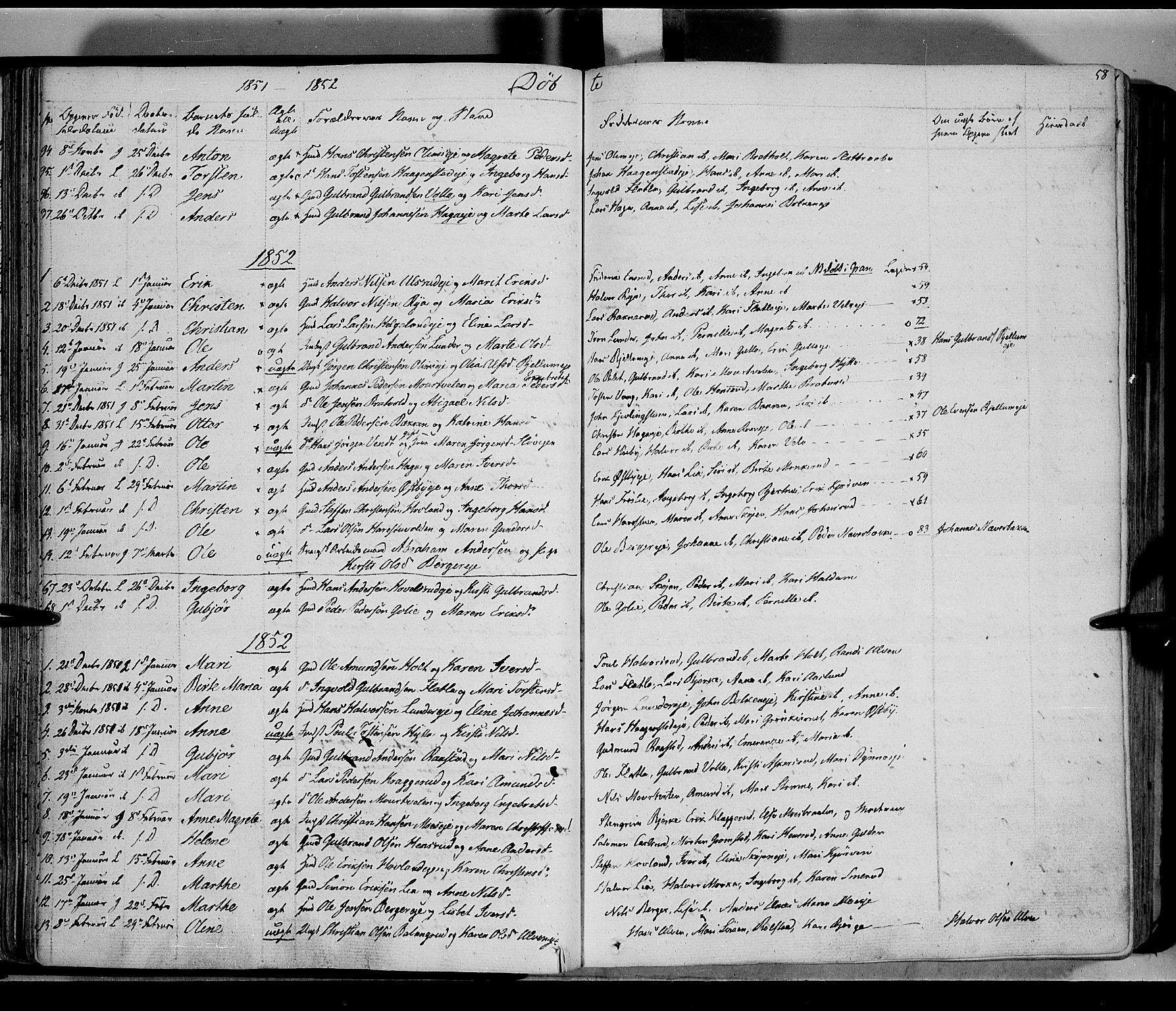 SAH, Jevnaker prestekontor, Ministerialbok nr. 6, 1837-1857, s. 58