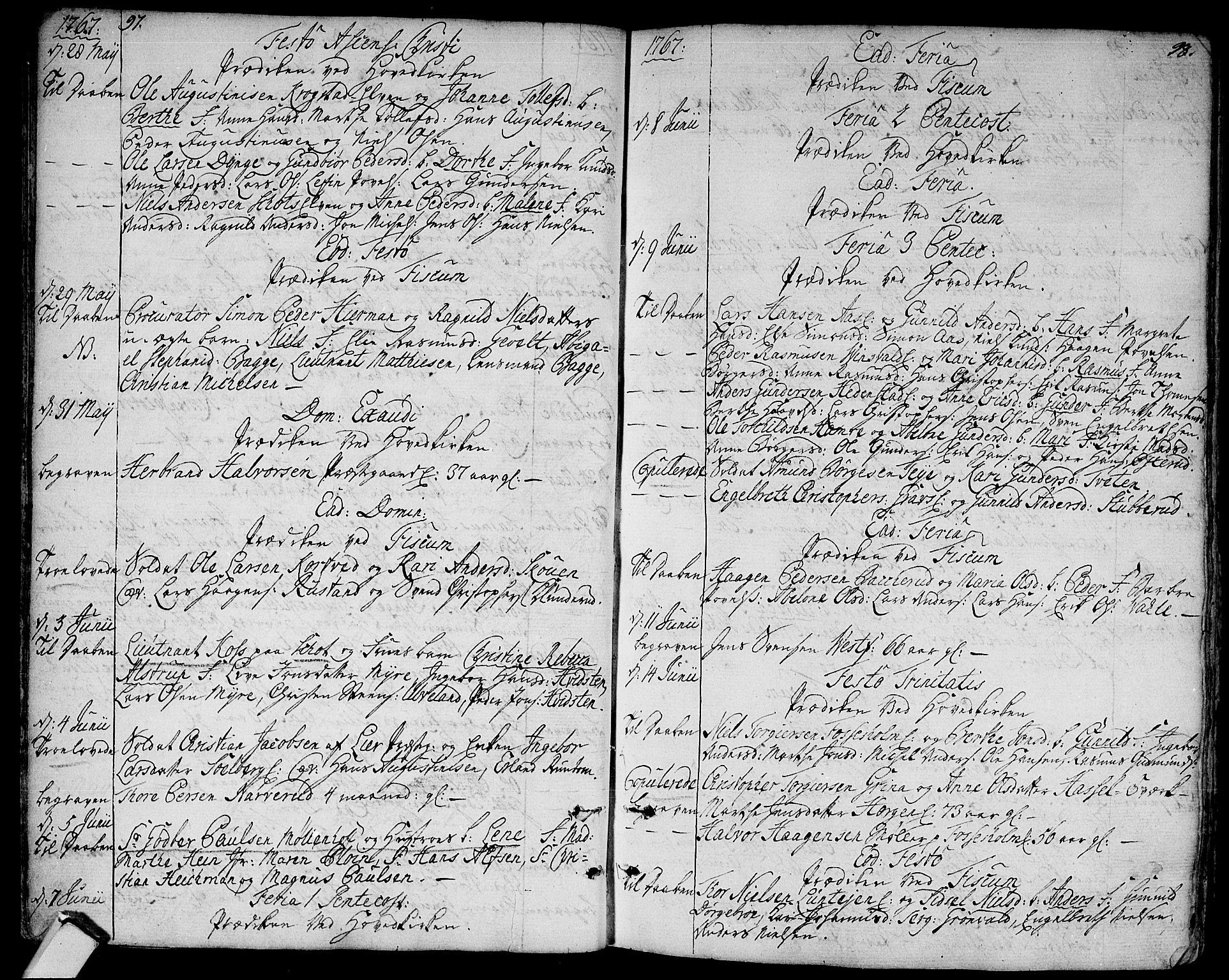 SAKO, Eiker kirkebøker, F/Fa/L0008: Ministerialbok nr. I 8, 1764-1788, s. 97-98