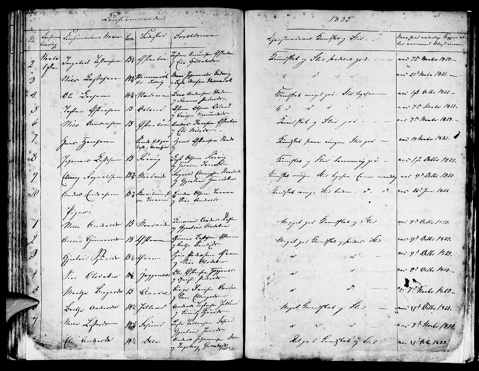 SAB, Lavik sokneprestembete, Ministerialbok nr. A 2I, 1821-1842, s. 338